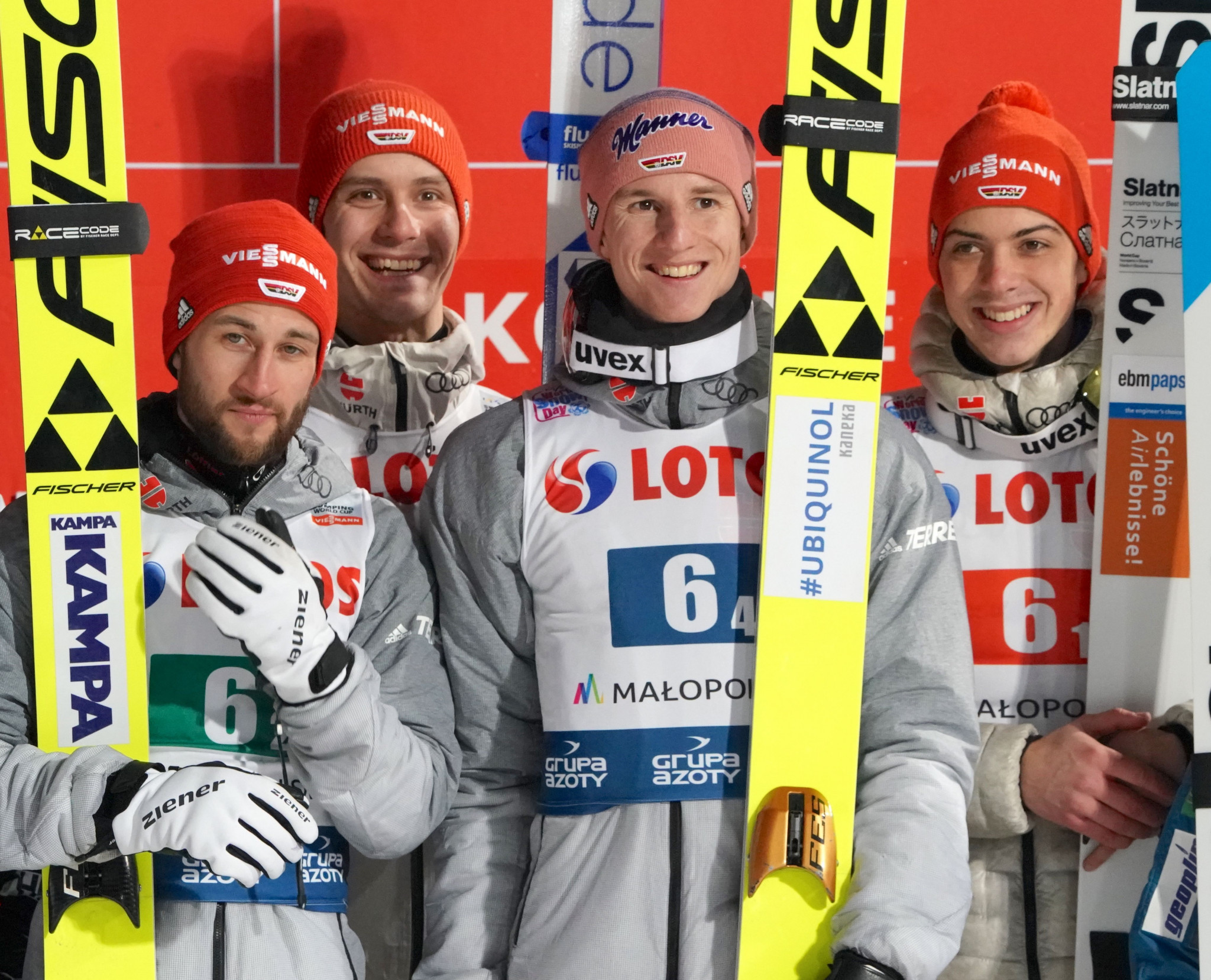 Germany triumphed in the team event at the FIS Ski Jumping World Cup event in Zakopane ©Getty Images
