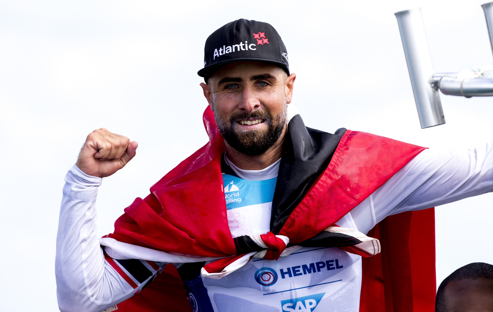 Trinidad and Tobago's Andrew Lewis booked his place at Tokyo 2020 in a dramatic medal race in Miami ©World Sailing