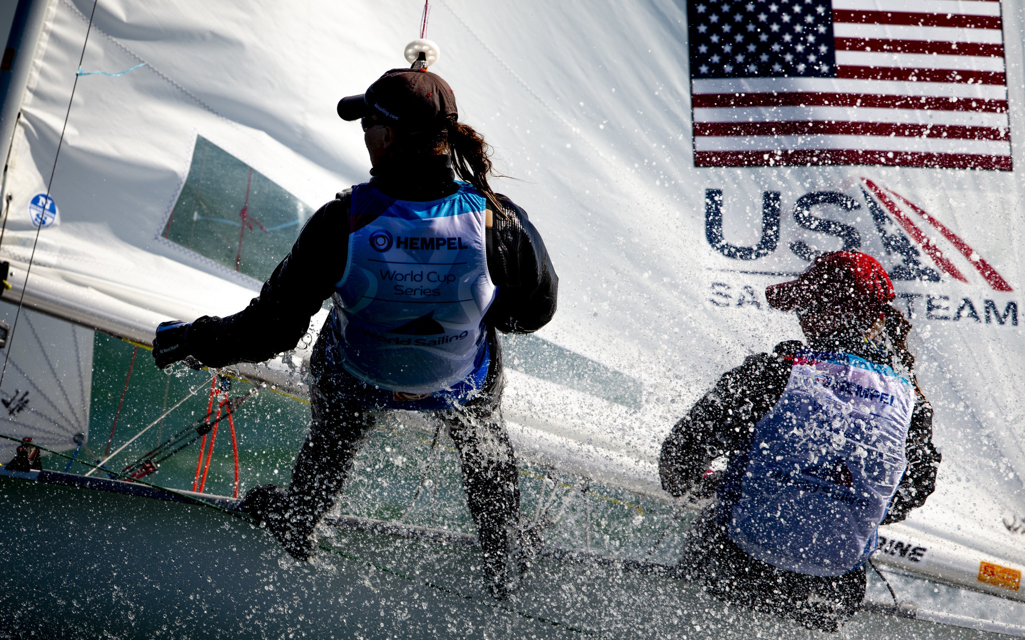 American twin sisters Carmen and Emma Cowles booked their Olympic place in the women's 470 ©World Sailing