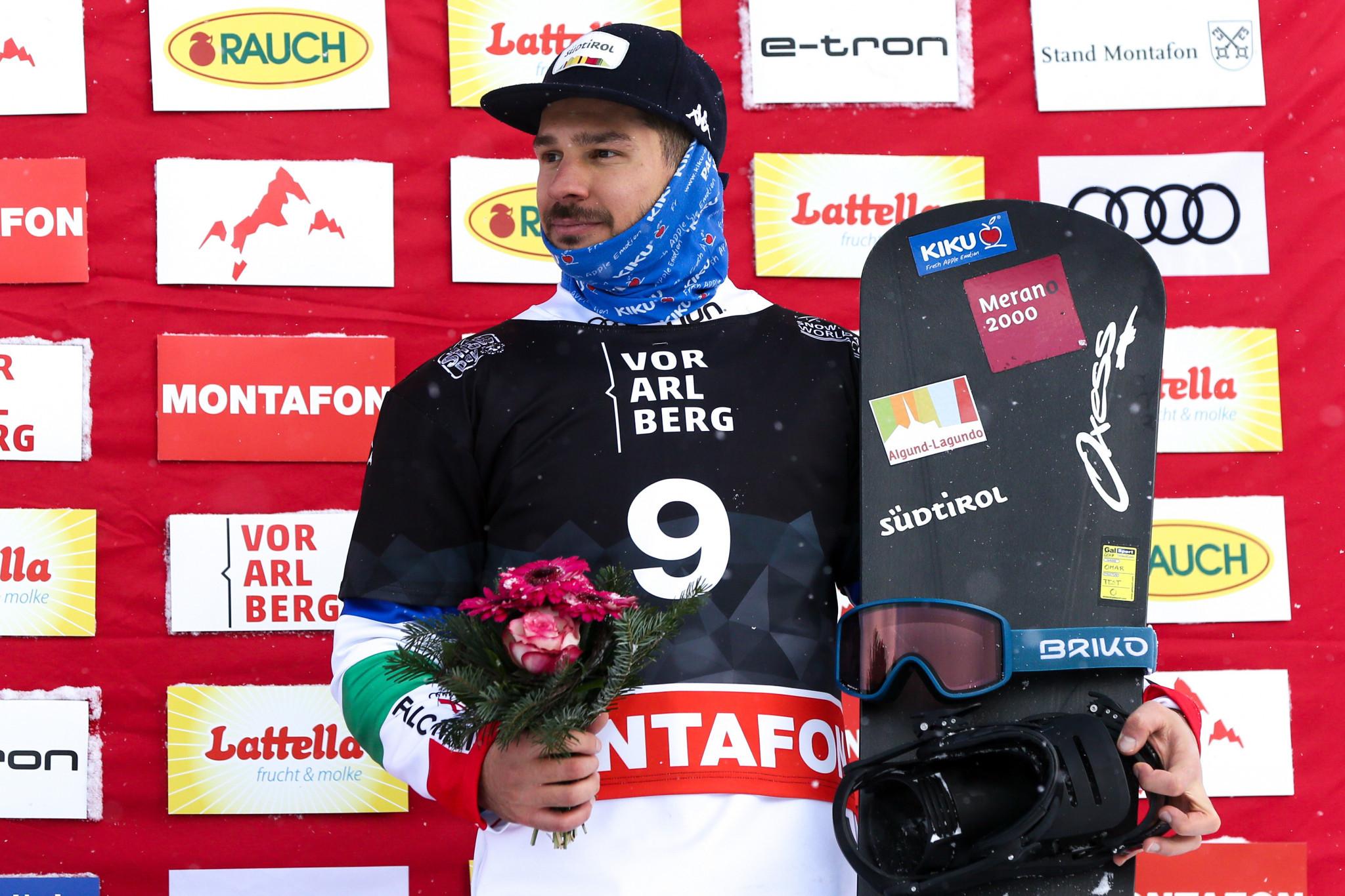 Omar Visintin, winning World Cup bronze in Montafon, Austria ©Getty Images