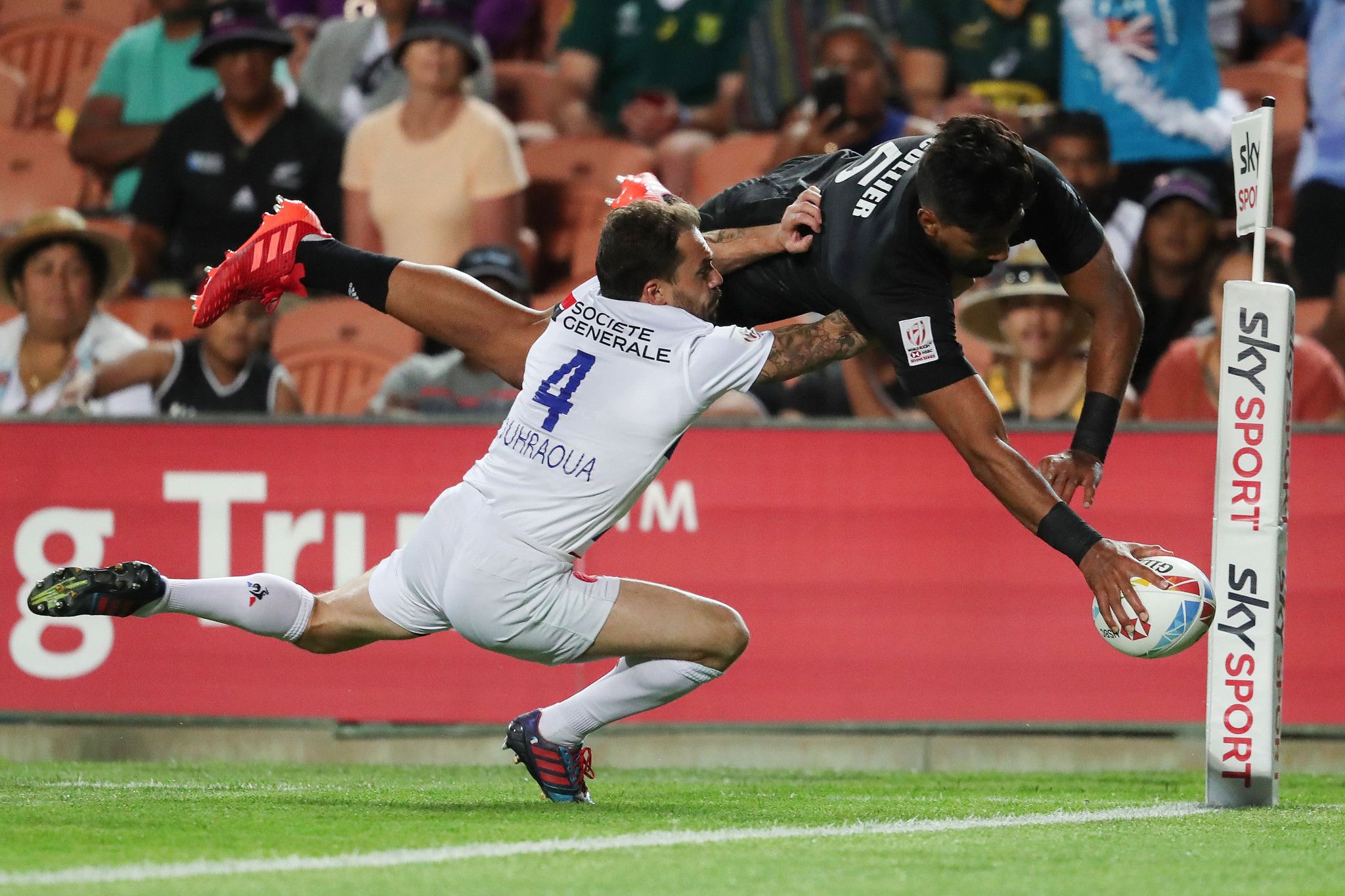 New Zealand crowned champions in home leg of men's World Rugby Sevens Series