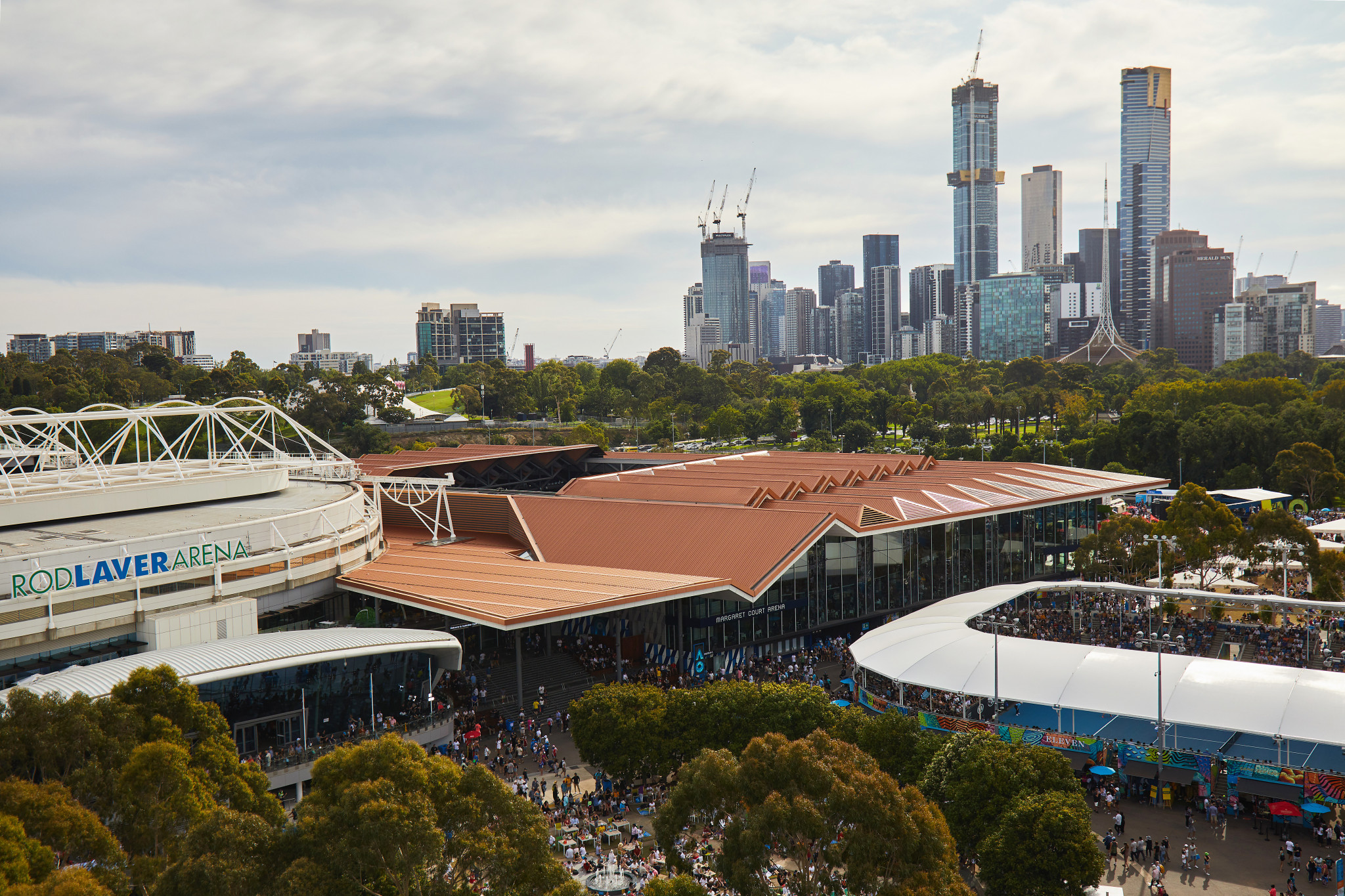 Fourth-round matches were played in the singles today at Melbourne Park ©Getty Images