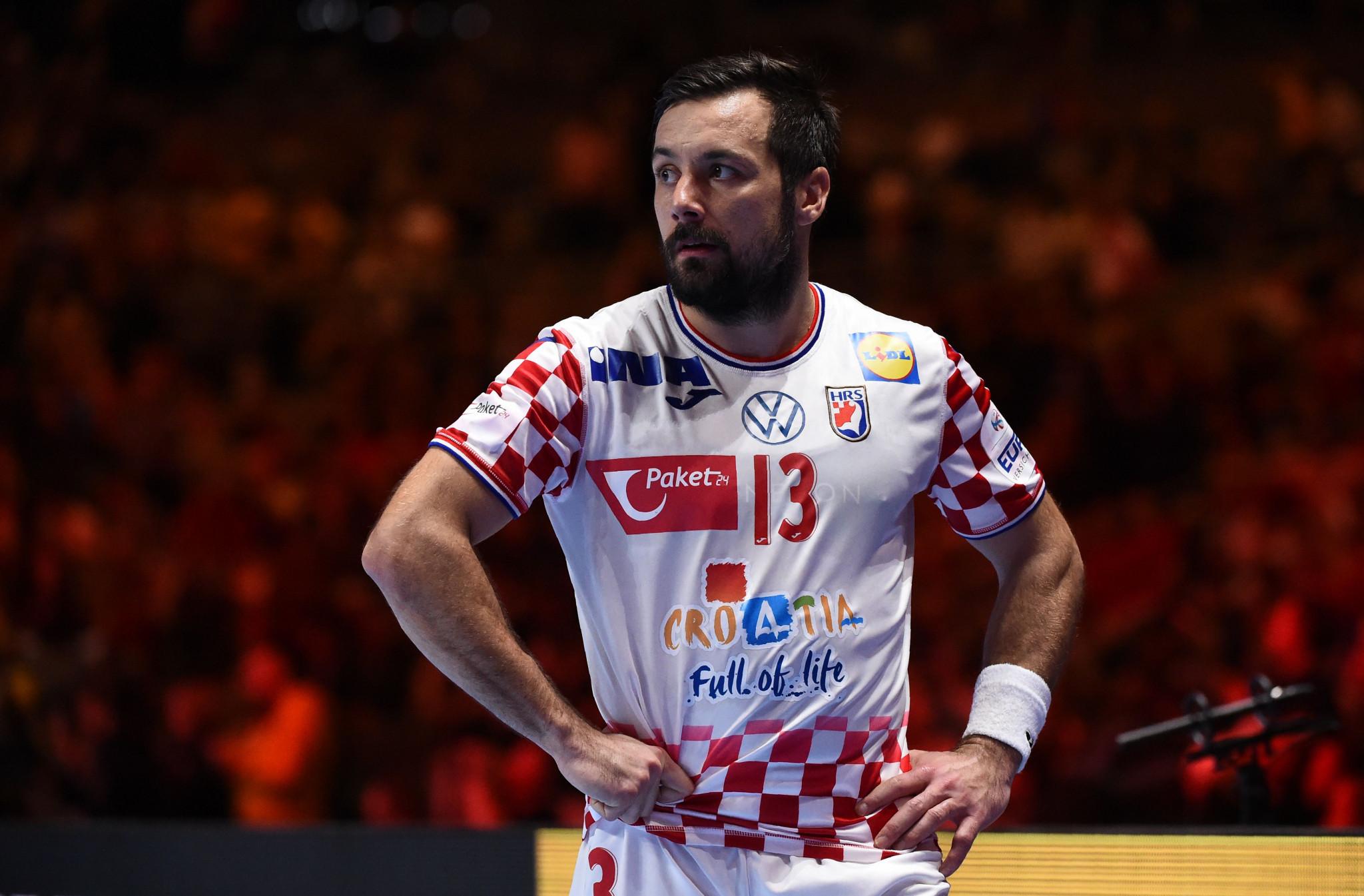Croatia's looks on Zlatko Horvat after the European Men's Handball Championship final ©Getty Images