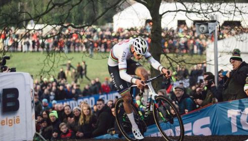 Van der Poel home win sets up world title defence but Aerts retains UCI Cyclo-cross World Cup title