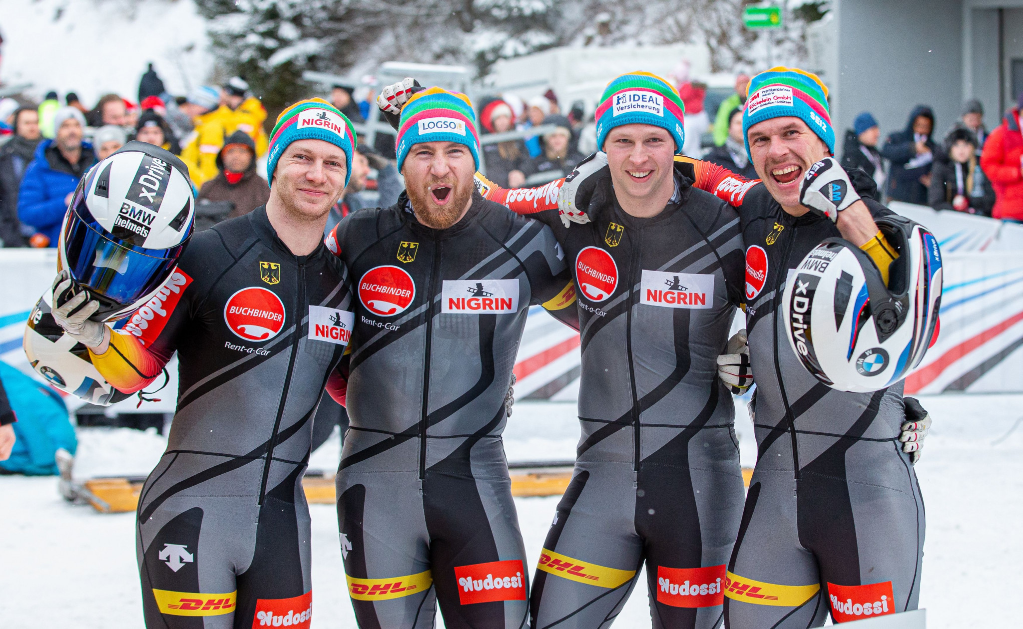 Friedrich wins German four-man bobsleigh battle in IBSF World Cup