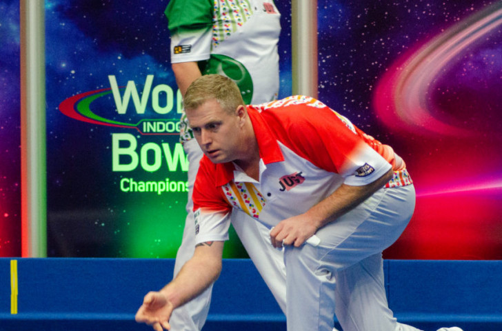 Robert Paxton, twice a world indoor bowls silver medallist, earned gold in the open singles at Norfolk today ©World Bowls