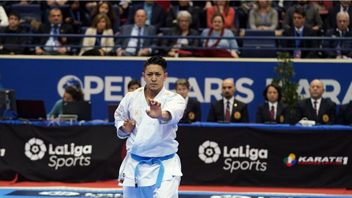 Japan's world champion Ryo Kiyuna maintained his domination of male kata at the opening Karate 1-Premier League event of the WKF season ©WKF