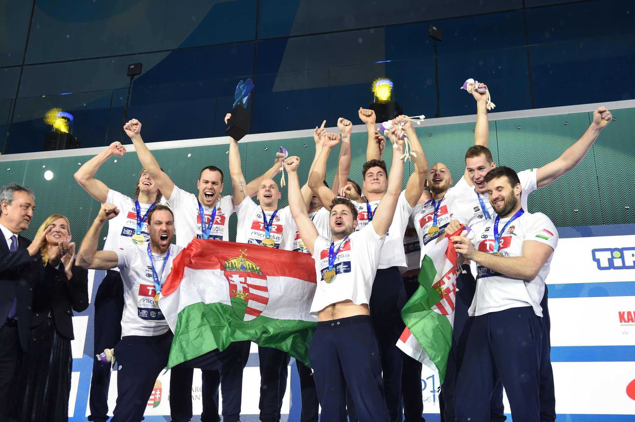 Hungary defeated Spain in a penalty shootout to win the Men's European Water Polo Championship ©Getty Images