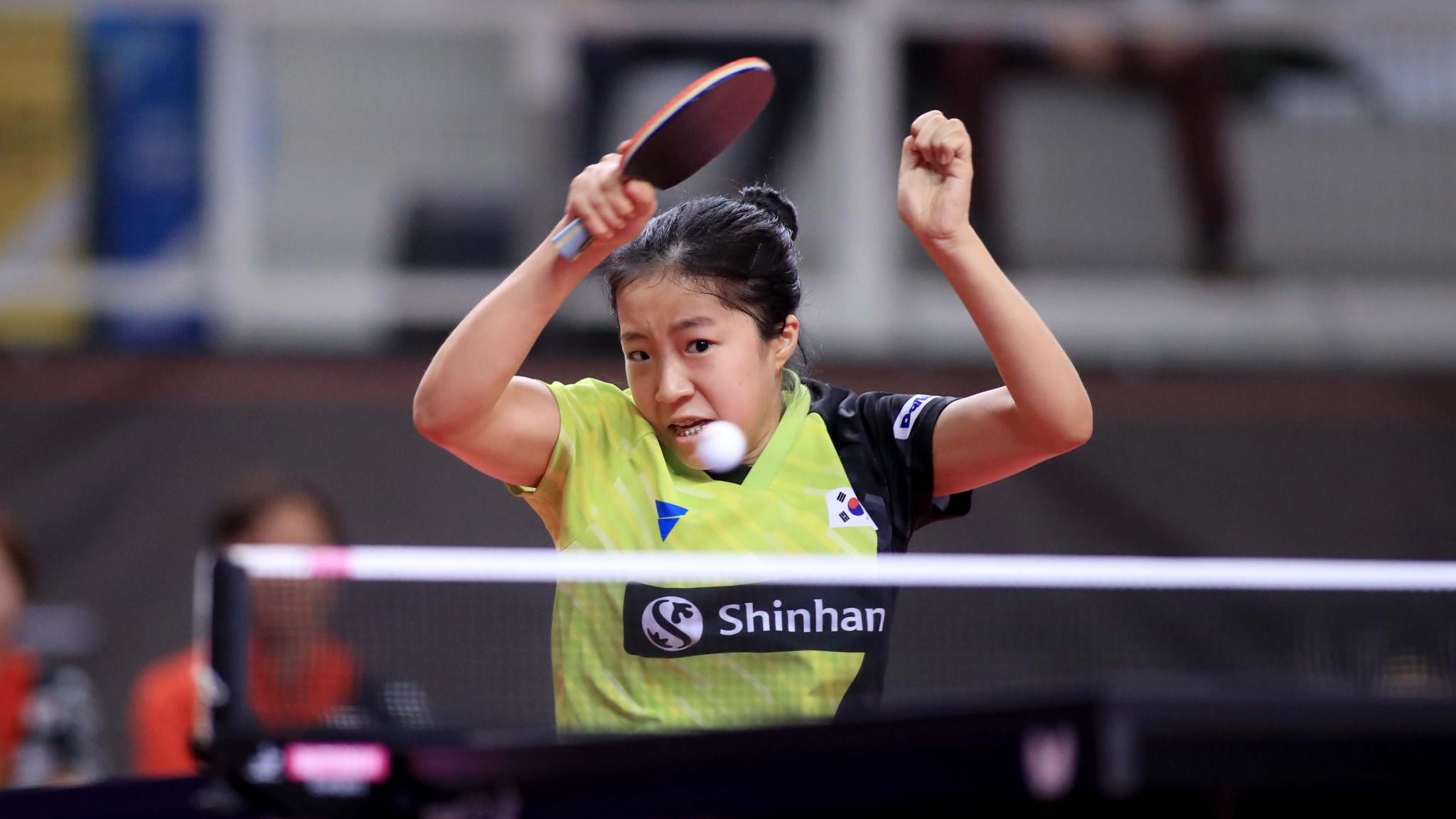 Shin Yu-bin of South Korea won the match that gave her team a place at Tokyo 2020 ©ITTF