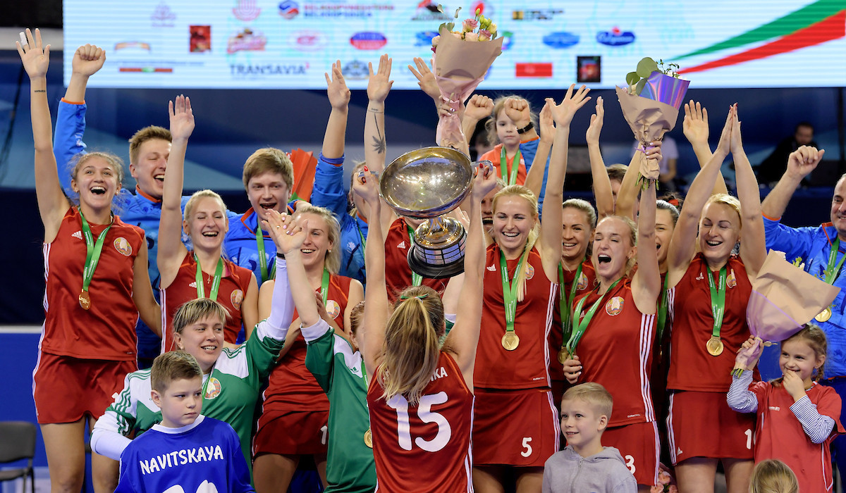 Hosts Belarus win first Women's EuroHockey Indoor Nations Championship title