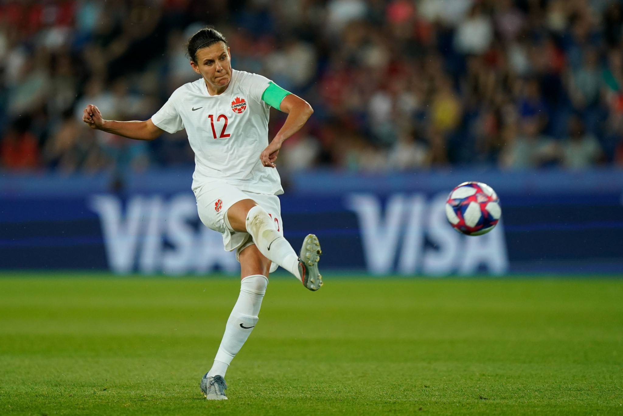 Christine Sinclair, Canada's all-time leading scorer, will aim to qualify for her fourth Olympics at the age of 36 ©Getty Images