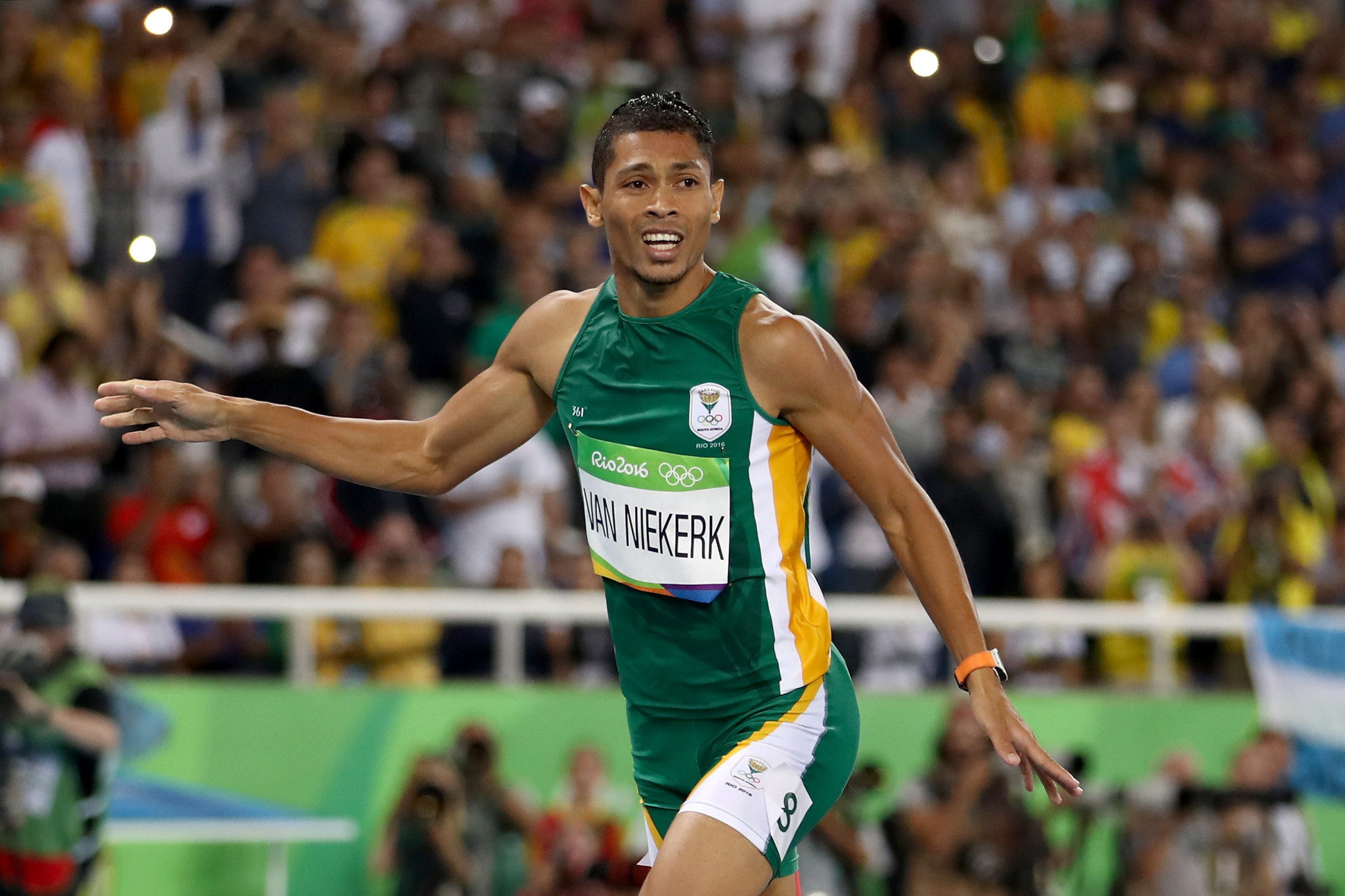 Wayde Van Niekerk was one of South Africa's two Olympic gold medallists at Rio 2016, when he broke the world record in the 400m and is hoping to return from injury in time for Tokyo 2020 ©Getty Images