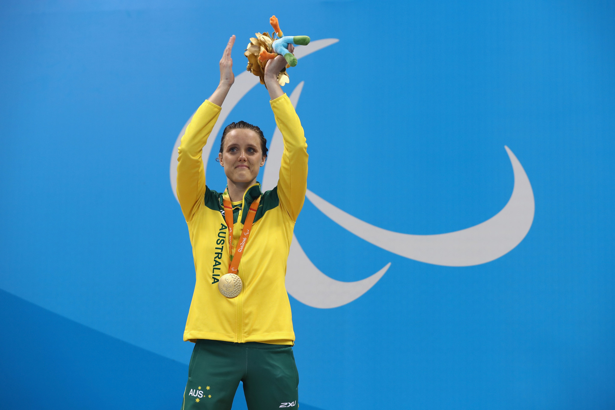 Ellie Cole of Australia after regaining her 100m backstroke gold from London 2012 ©Getty Images