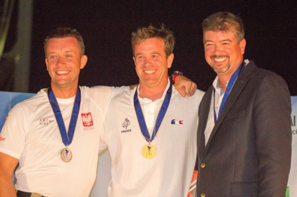 French pilot Olivier Masurel was awarded his gold medal during the World Air Games' Gala Dinner