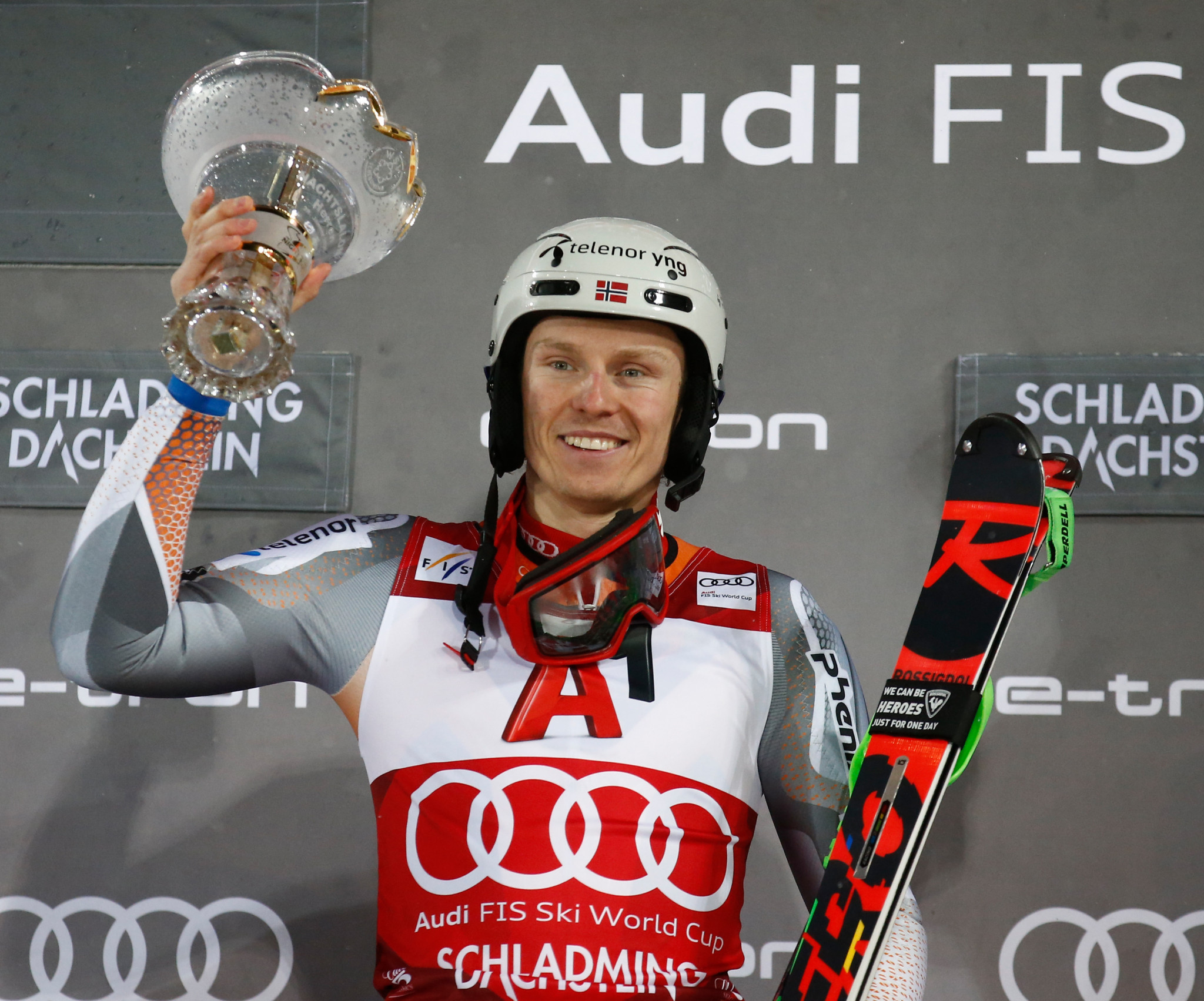 Kristoffersen extends lead in FIS Alpine Ski World Cup standings with slalom win in Schladming