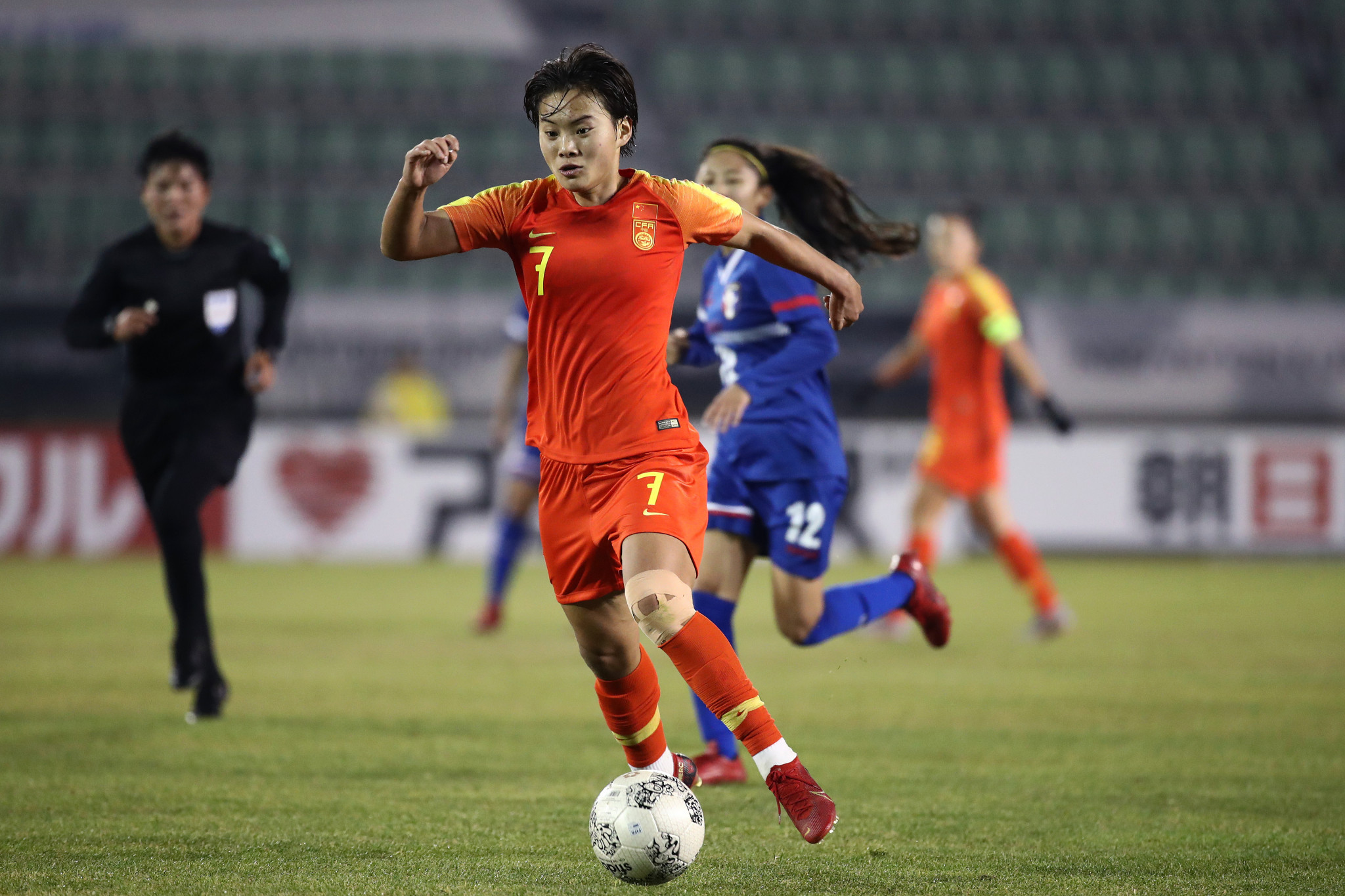 China's experienced midfielder Wang Shuang was not able to travel to Australia for the Olympic qualifying with the squad, being forced to remain in isolation in Wuhan, the centre of the coronavirus outbreak ©Getty Images