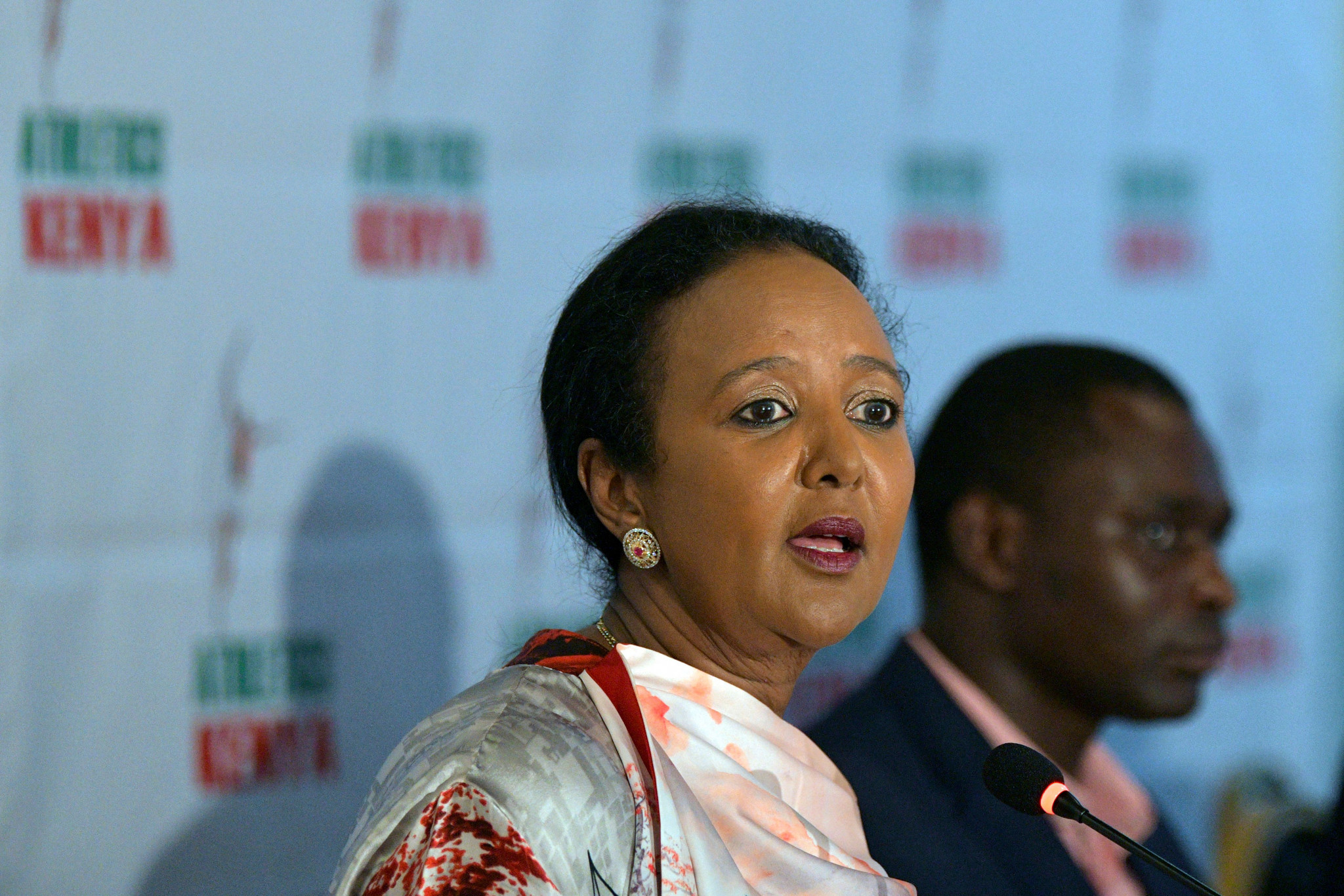Sports Cabinet Secretary Amina Mohamed said Kenya is keen to enter a clean team into the Tokyo 2020 Olympic Games ©Getty Images