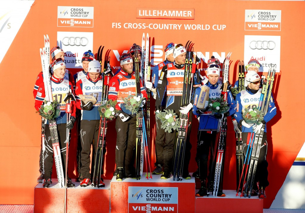 Hosts Norway secure clean sweep of men's relay podium at FIS Cross-Country World Cup
