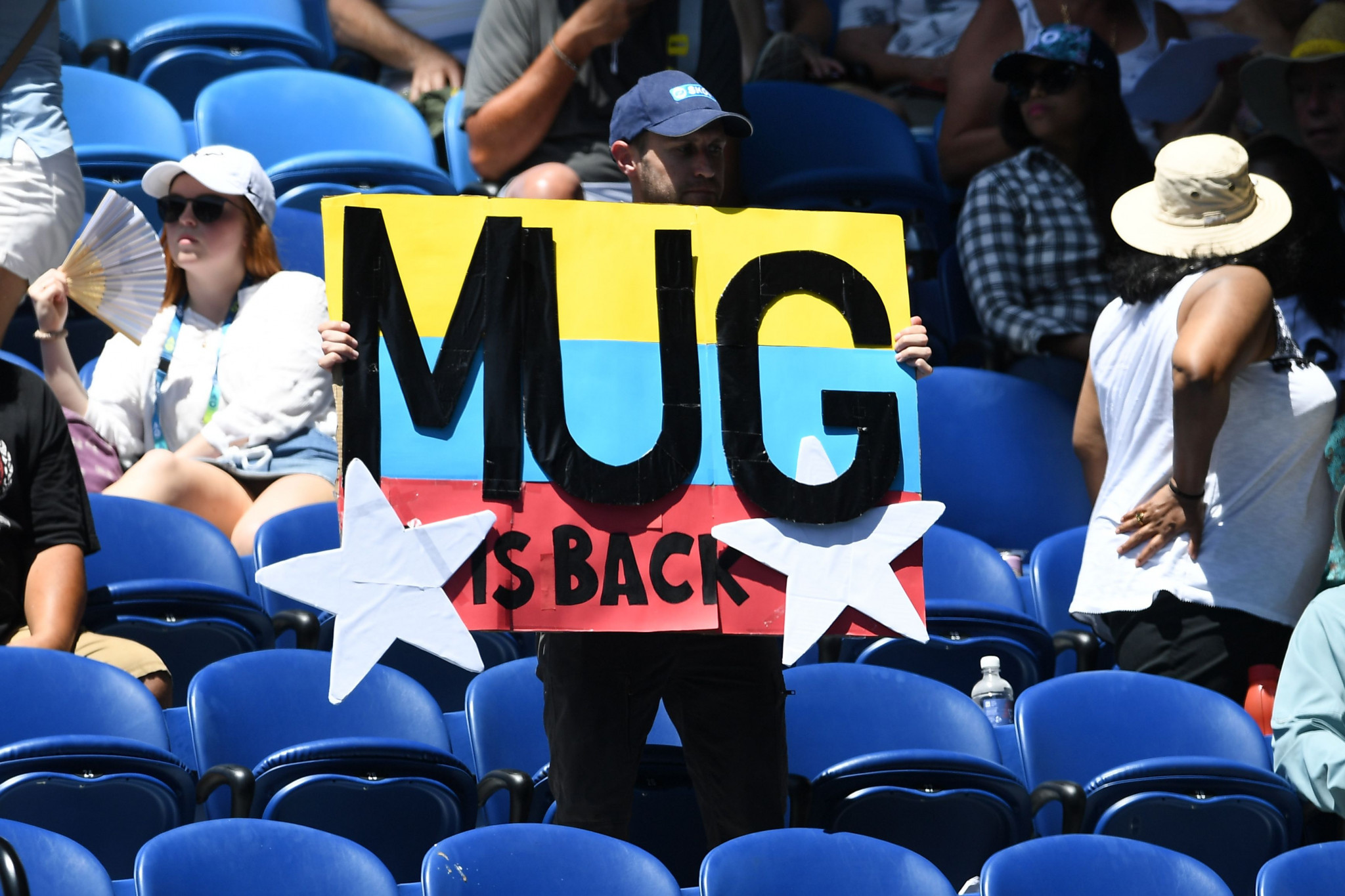 Fans showed their support for the Spaniard, who was born in Venezuela ©Getty Images