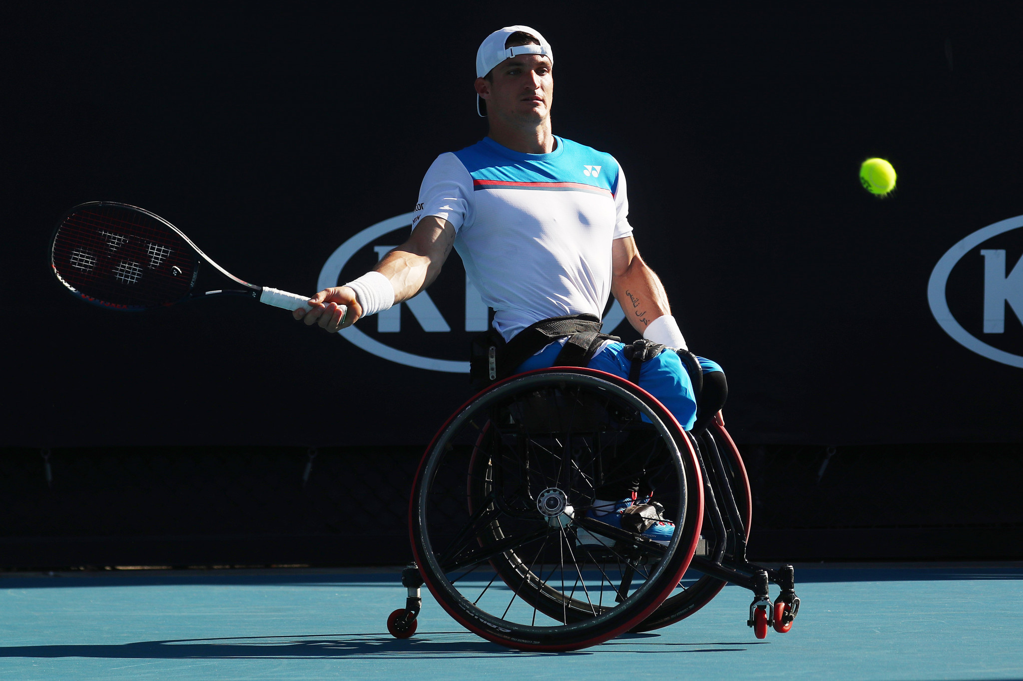 Reigning men's wheelchair champion Gustavo Fernandez was also knocked out ©Getty Images