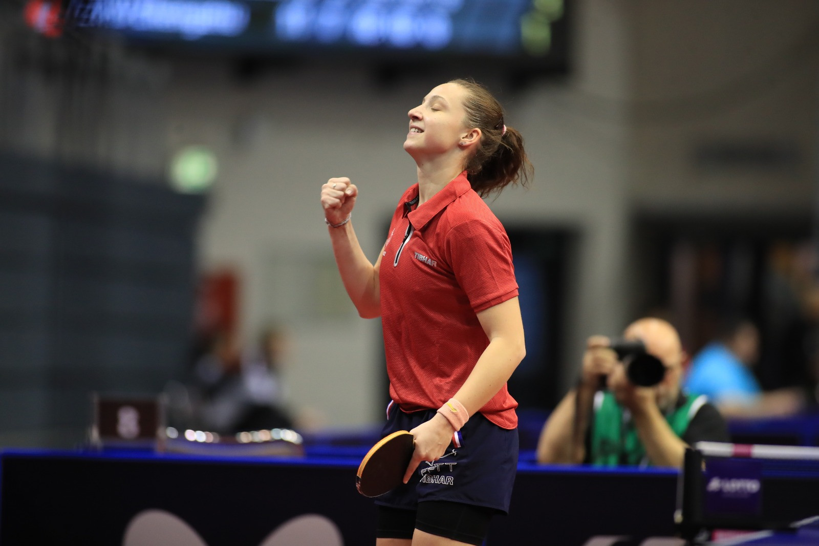 Stephanie Loeuillette of France defeated the world number 19, Bernadette Szocs of Romania, at the ITTF German Open ©ITTF