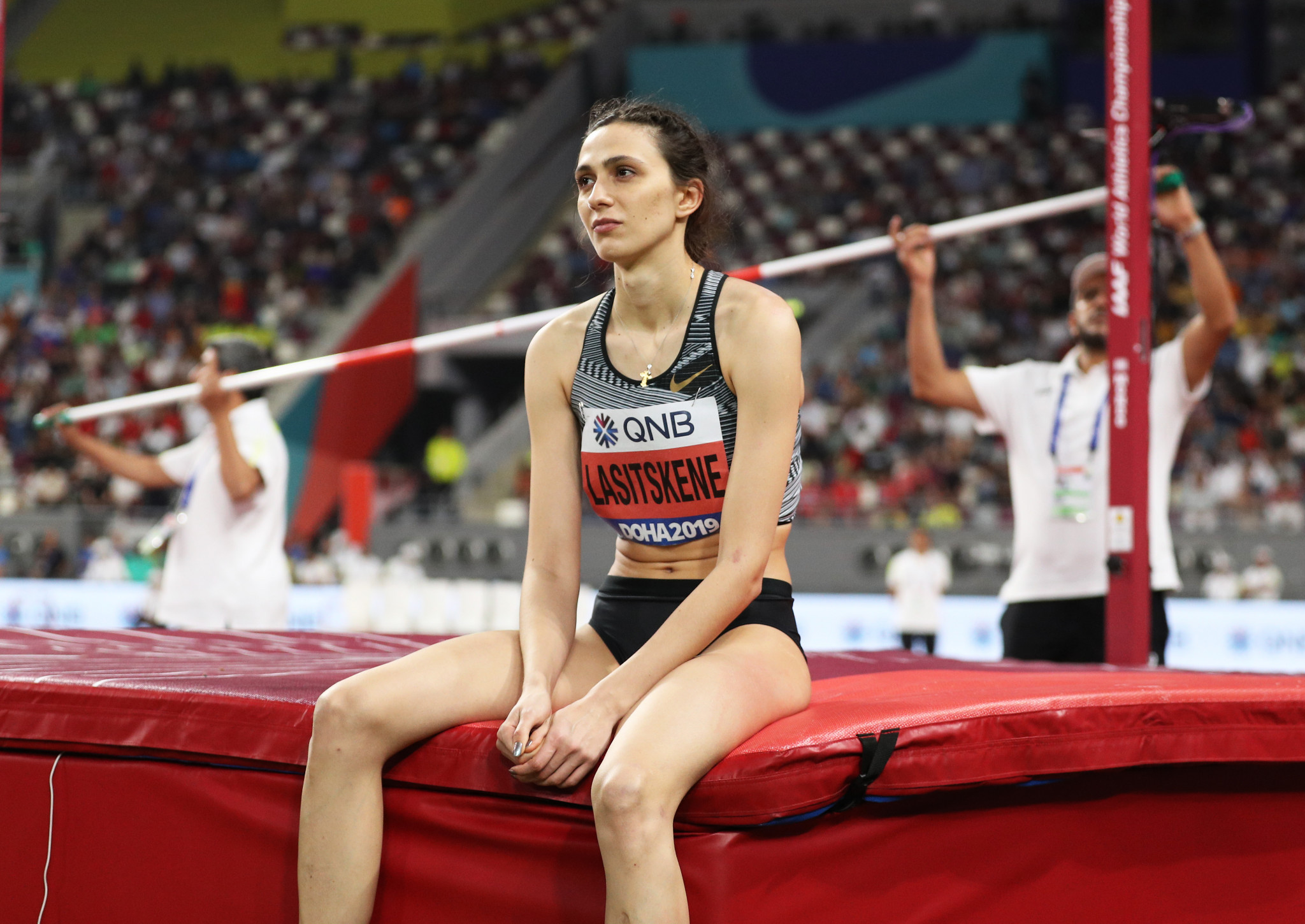 Russia's three-times world high jump champion Mariya Lasitskene has tweeted her support for fellow athlete Sergey Shubenkov amidst allegations that he has produced an adverse test that he has strongly denied ©Getty Images