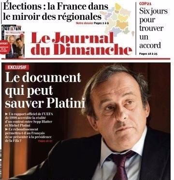 Michel Platini hopes a document published in French newspaper Le Journal du Dimanche will help clear his name ©Le Journal du Dimanche