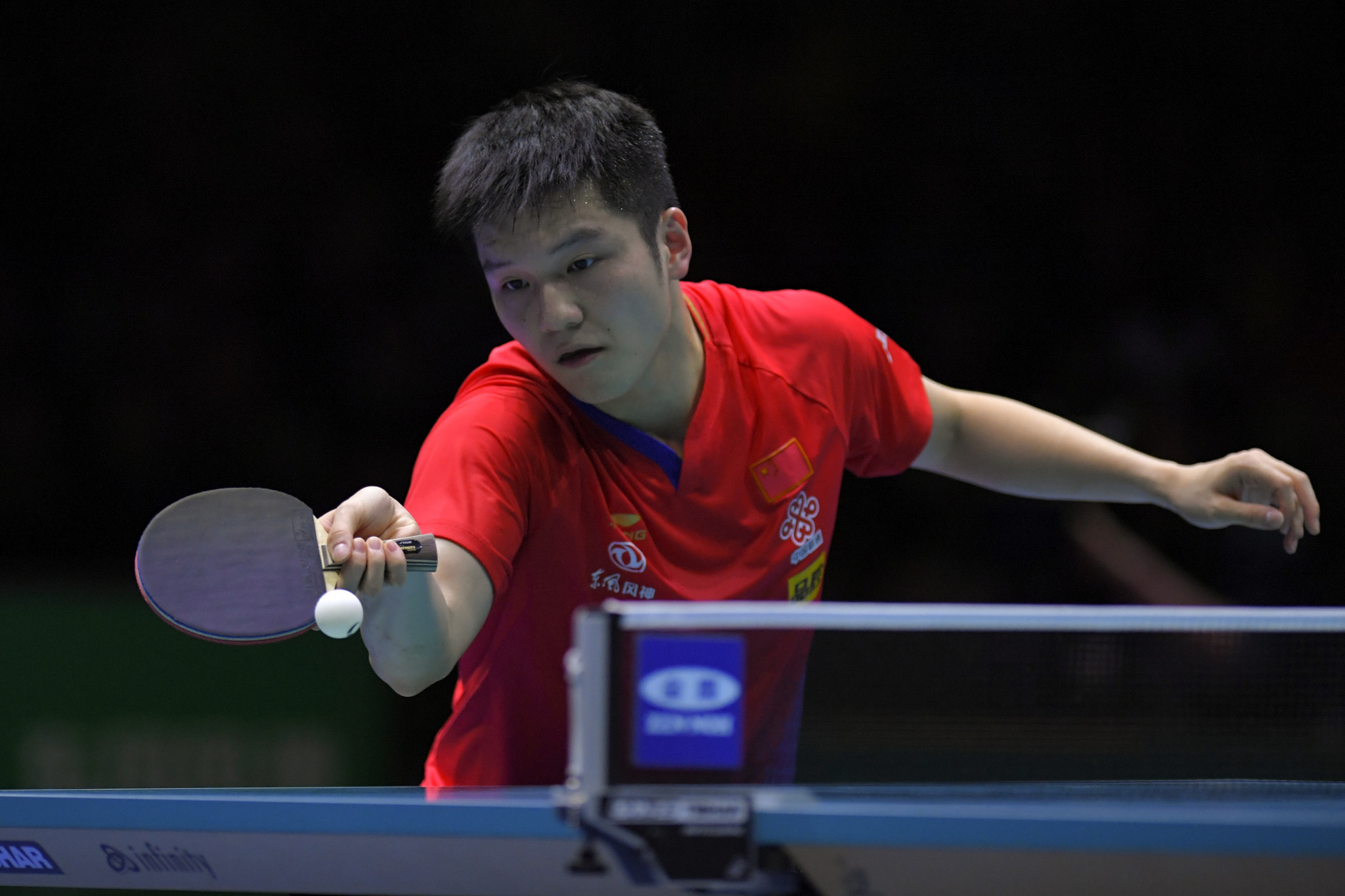 World number one Fan Zhendong progressed into the round of 16 at the ITTF German Open ©Getty Images