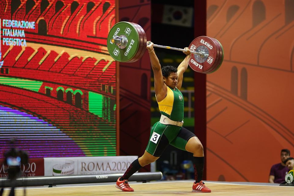 Weightlifting star Cikamatana wins in Rome to make it three from three for Australia