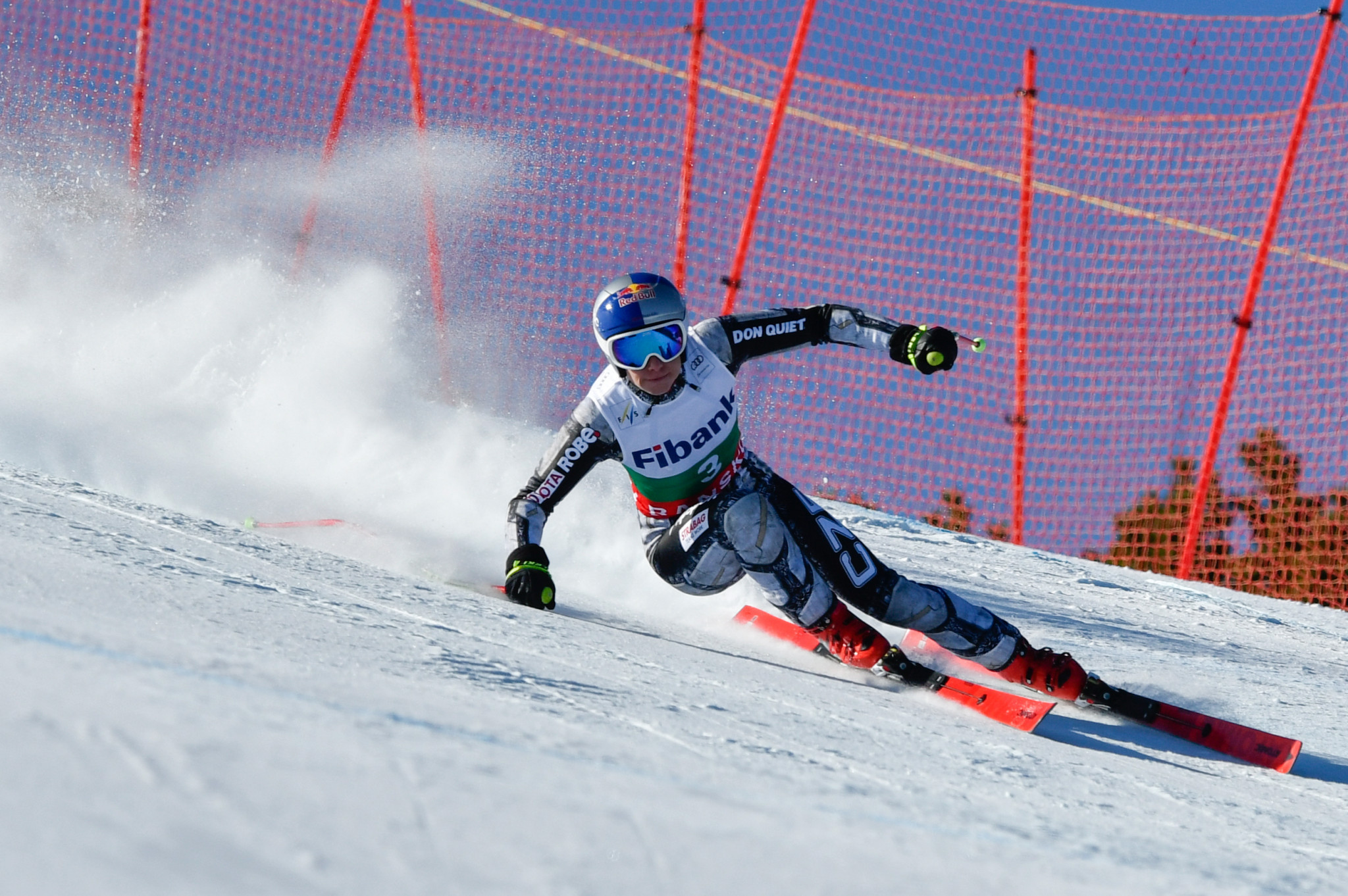 Ester Ledecká during the women's downhill in Bansko in Bulgaria ©Getty Images