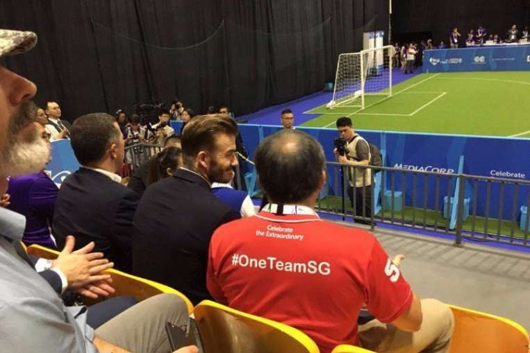 Beckham sprinkles some stardust over ASEAN Para Games in Singapore