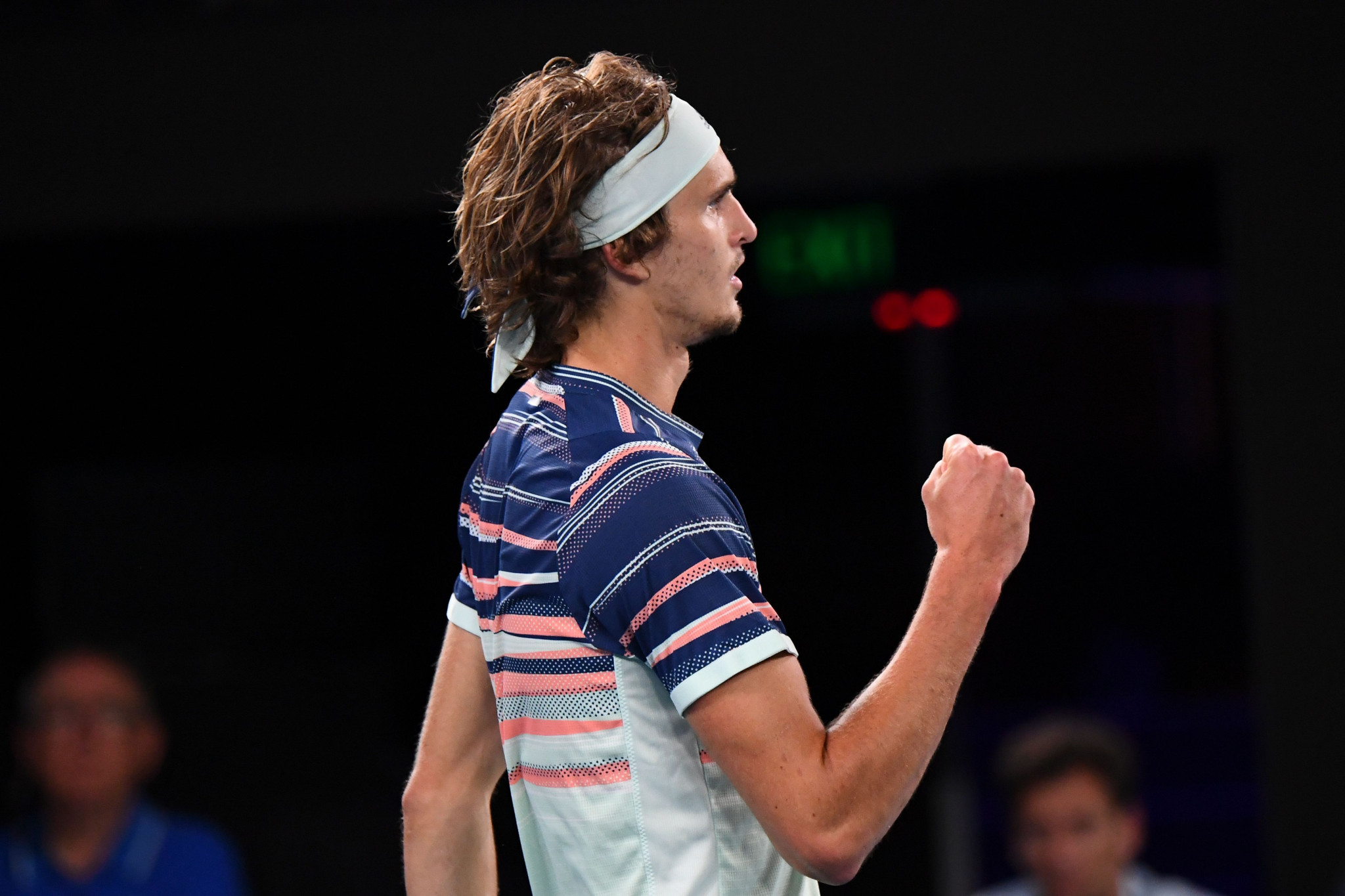 Germany's Alexander Zverev took the opening set of the semi-final tie ©Getty Images