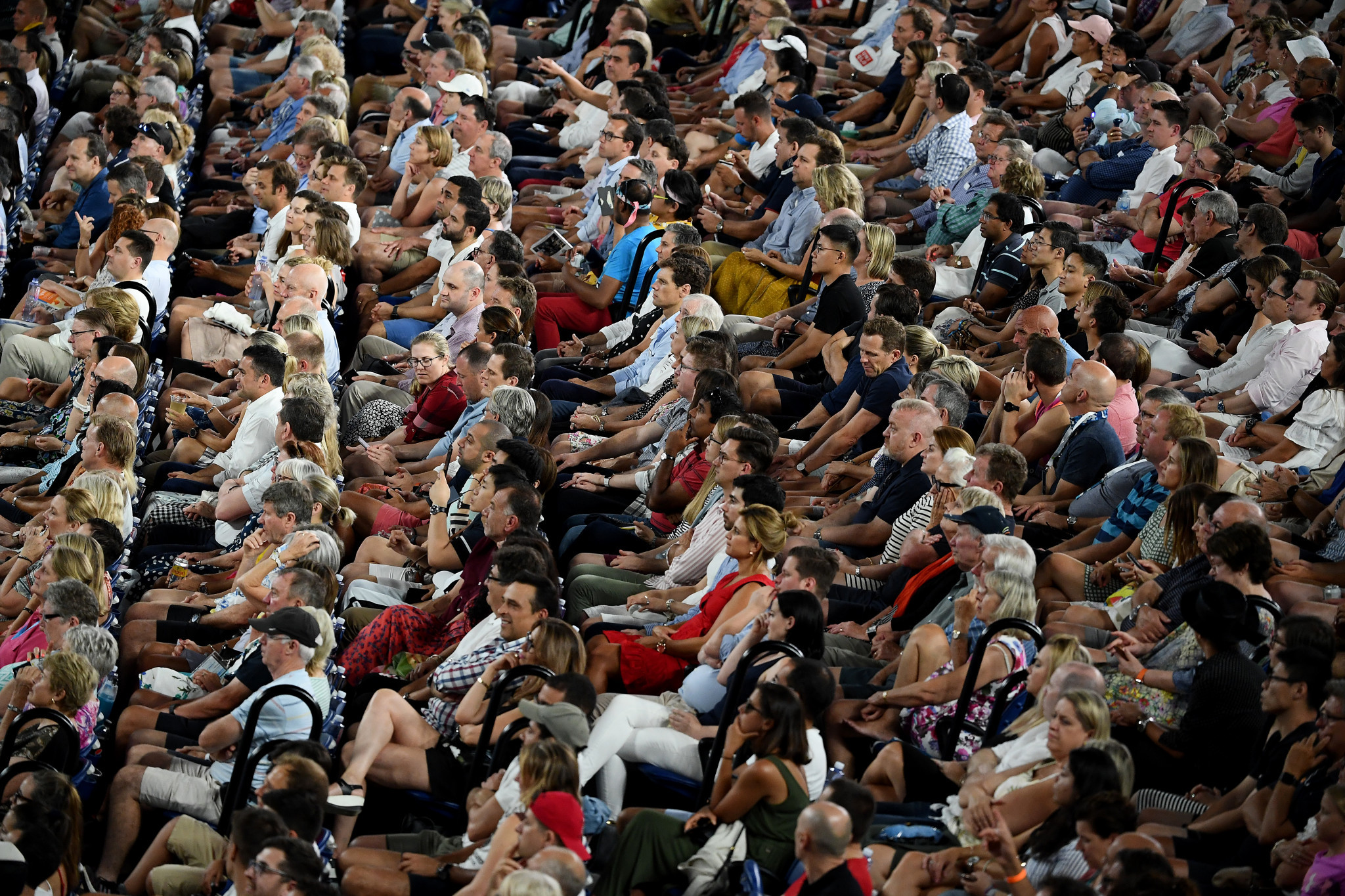A packed crowd watched the match at the Rod Laver Arena ©Getty Images