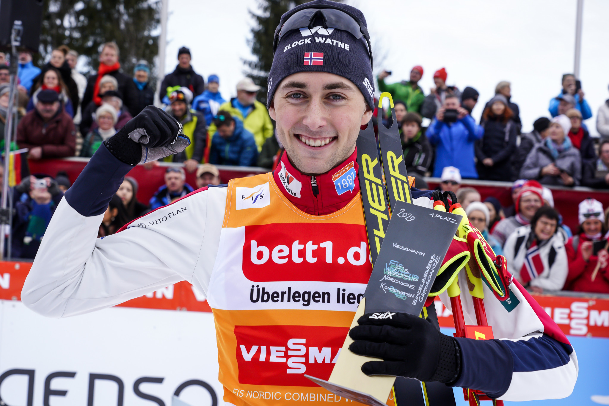 Riiber makes perfect start to FIS Nordic Combined World Cup Triple