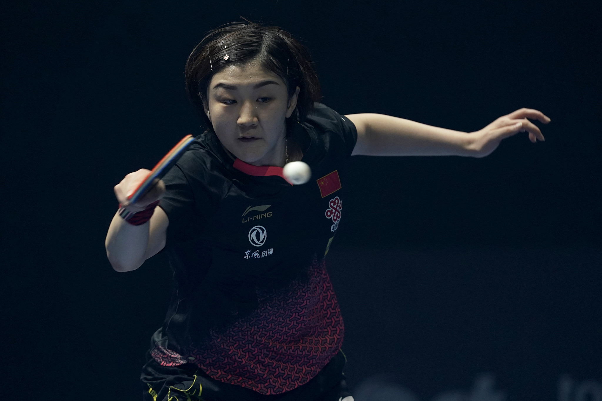 China's Chen Meng remains on course to win the women's singles event ©Getty Images