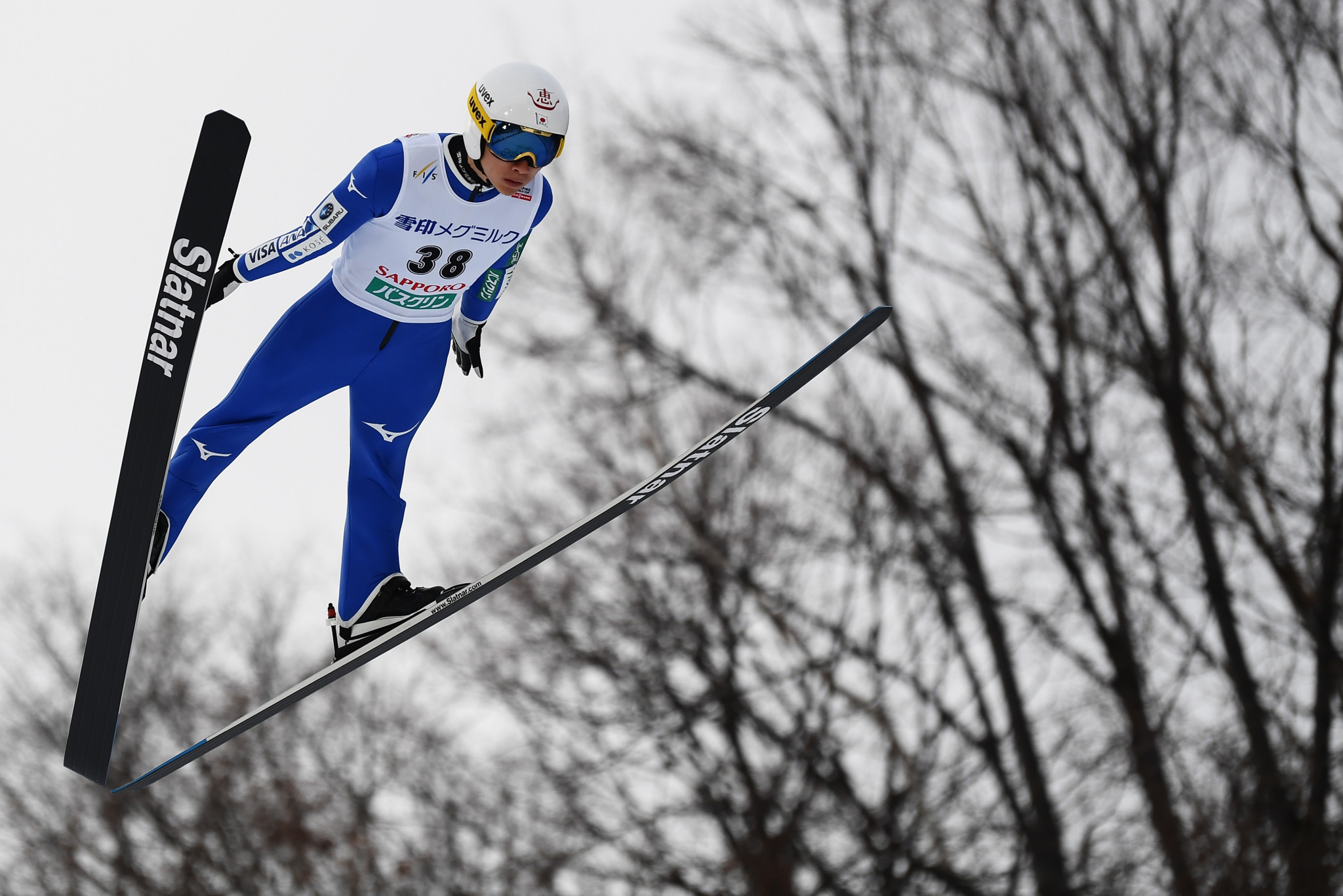 Yukiya Sato is the first Japanese ski jumper to win a men's individual World Cup event in Japan since Daiki Ito in 2012 ©Getty Images