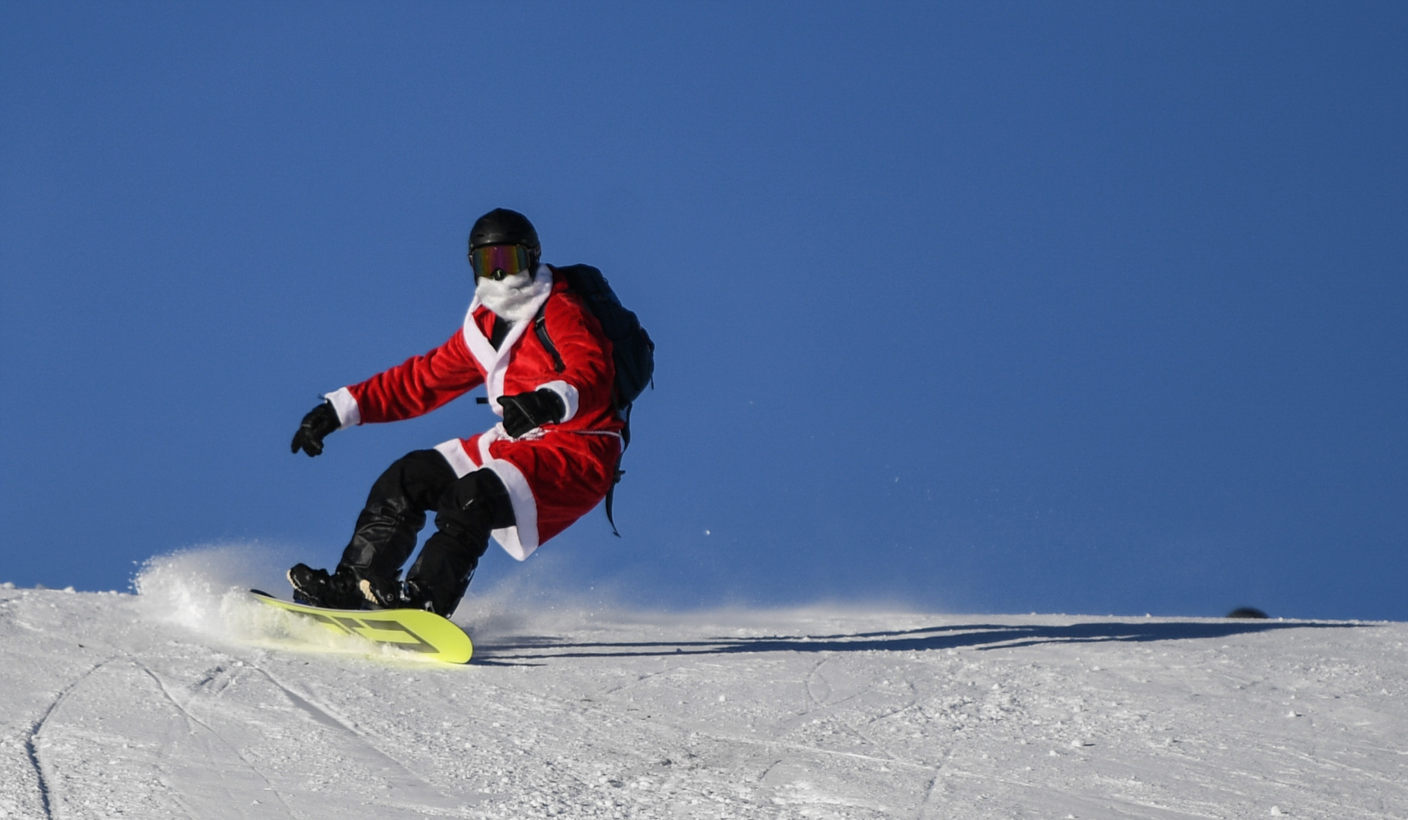 A snowboarder on the slopes in Feldberg ©Getty Images