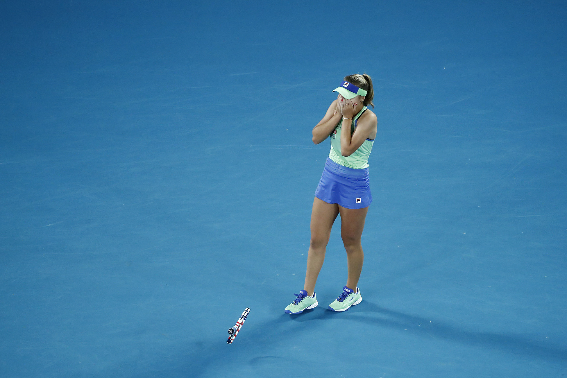 The American was shocked as she secured her first Grand Slam title ©Getty Images