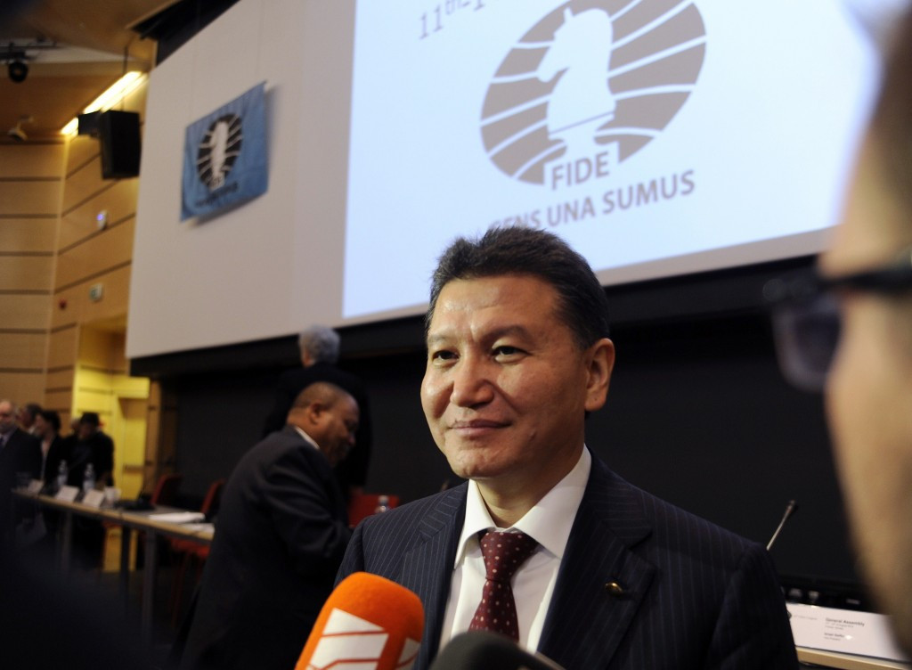 Russian Kirsan Ilyumzhinov has stepped down as President of FIDE after being named on a US sanctions list ©Getty Images