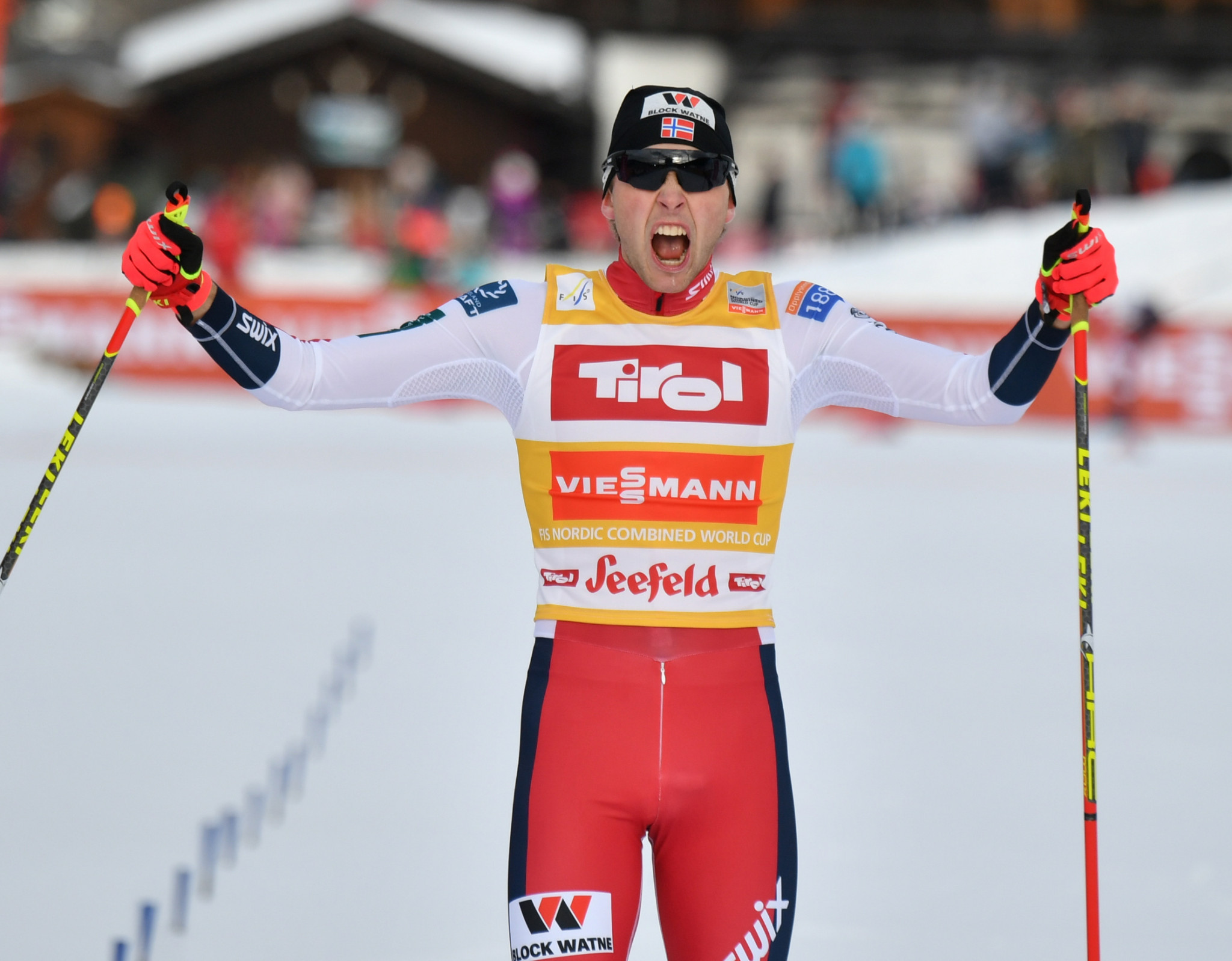 Riiber on brink of first FIS Nordic Combined World Cup Triple triumph