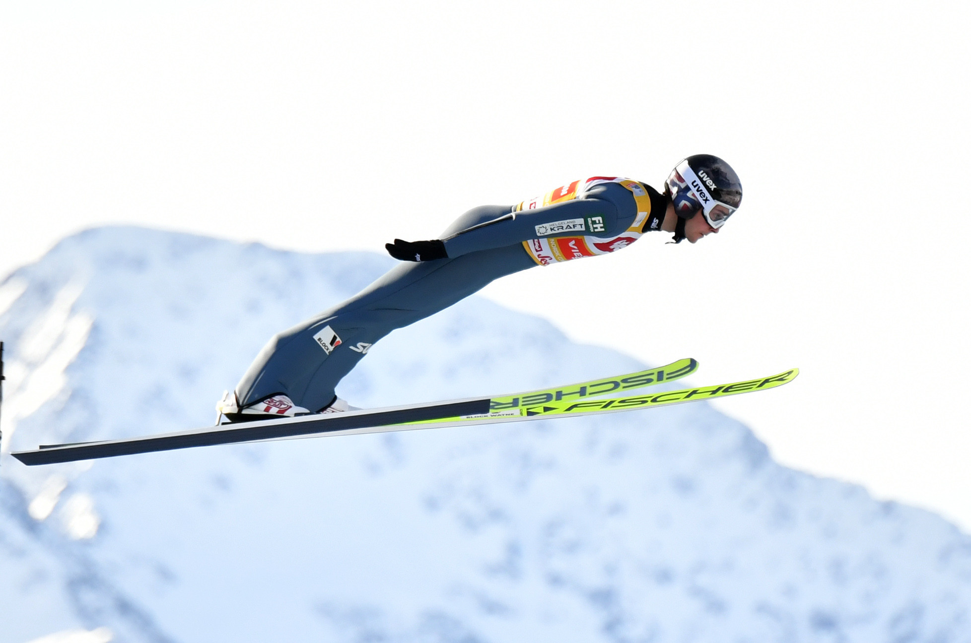 The Norwegian topped the standings after the ski jumping round in Seefeld ©Getty Images
