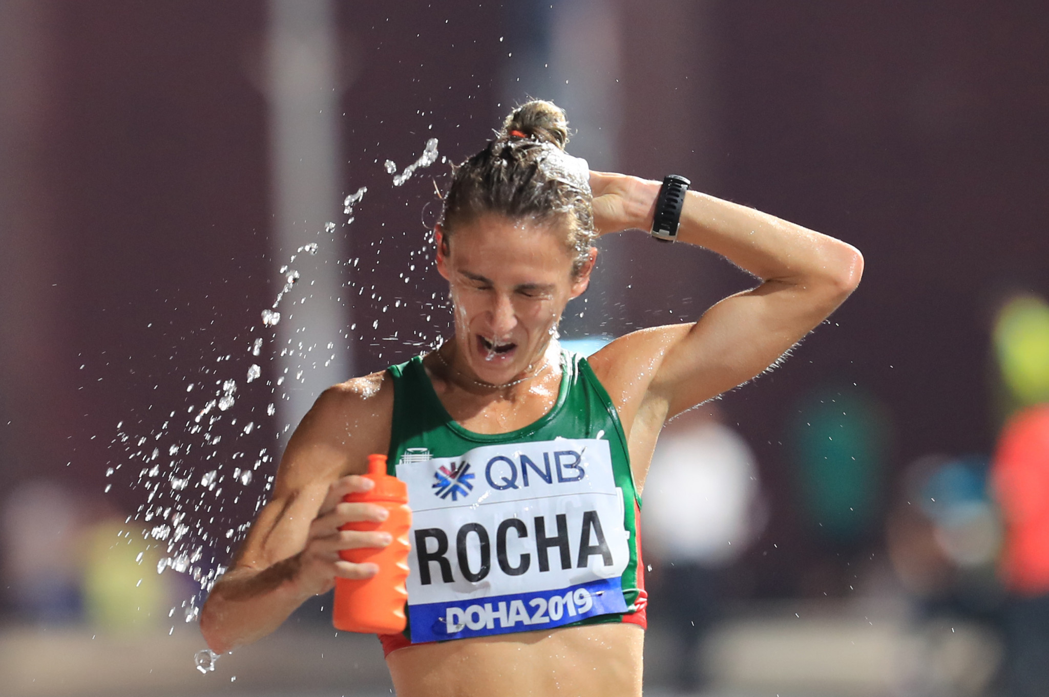 Portugal's home hero, Salomé Rocha during the World Athletics Championships marathon in Qatar last year ©Getty Images