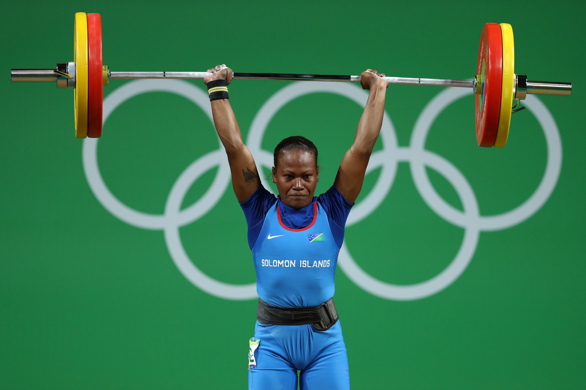 Jenly Tegu Wini was one of three Solomon Islands Olympians at Rio 2016 ©Getty Images
