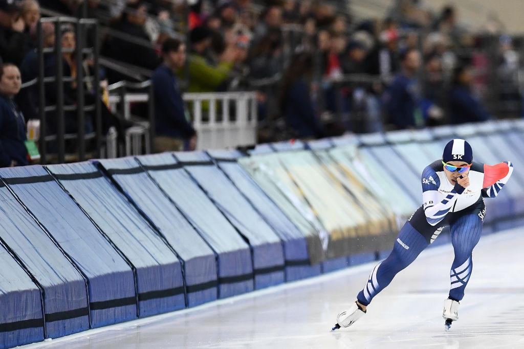 Kim Min-seok won the men's 1,500 metres on day two  ©ISU