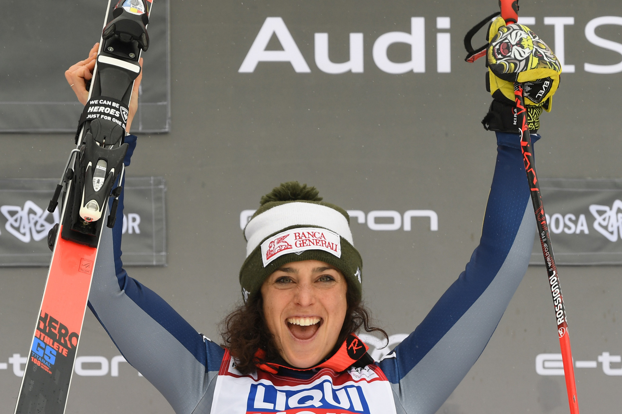 Brignone closes Alpine Ski World Cup gap to Shiffrin after super-G win