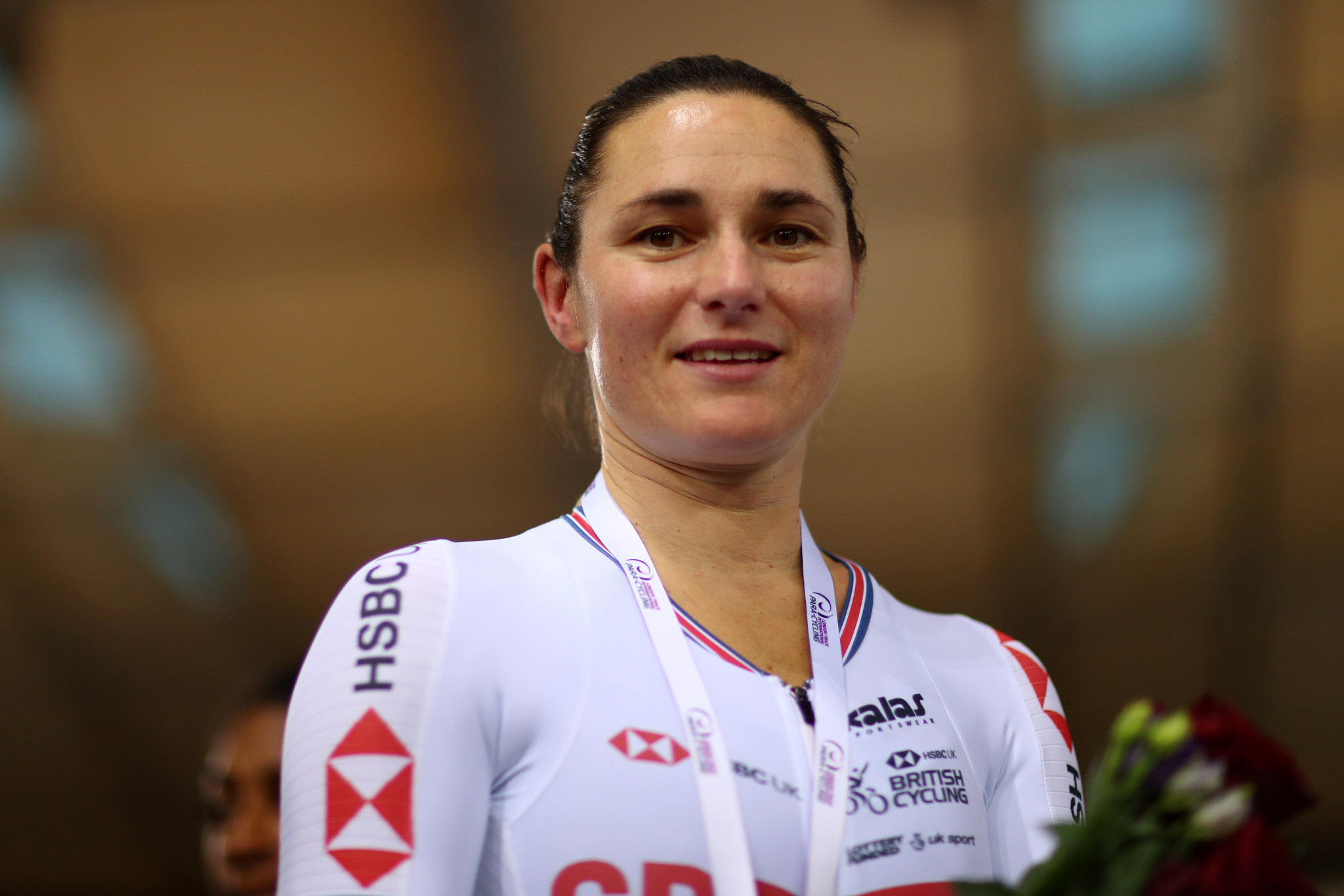 Dame Sarah Storey won three golds and now boasts 60 World Championship medals ©Getty Images