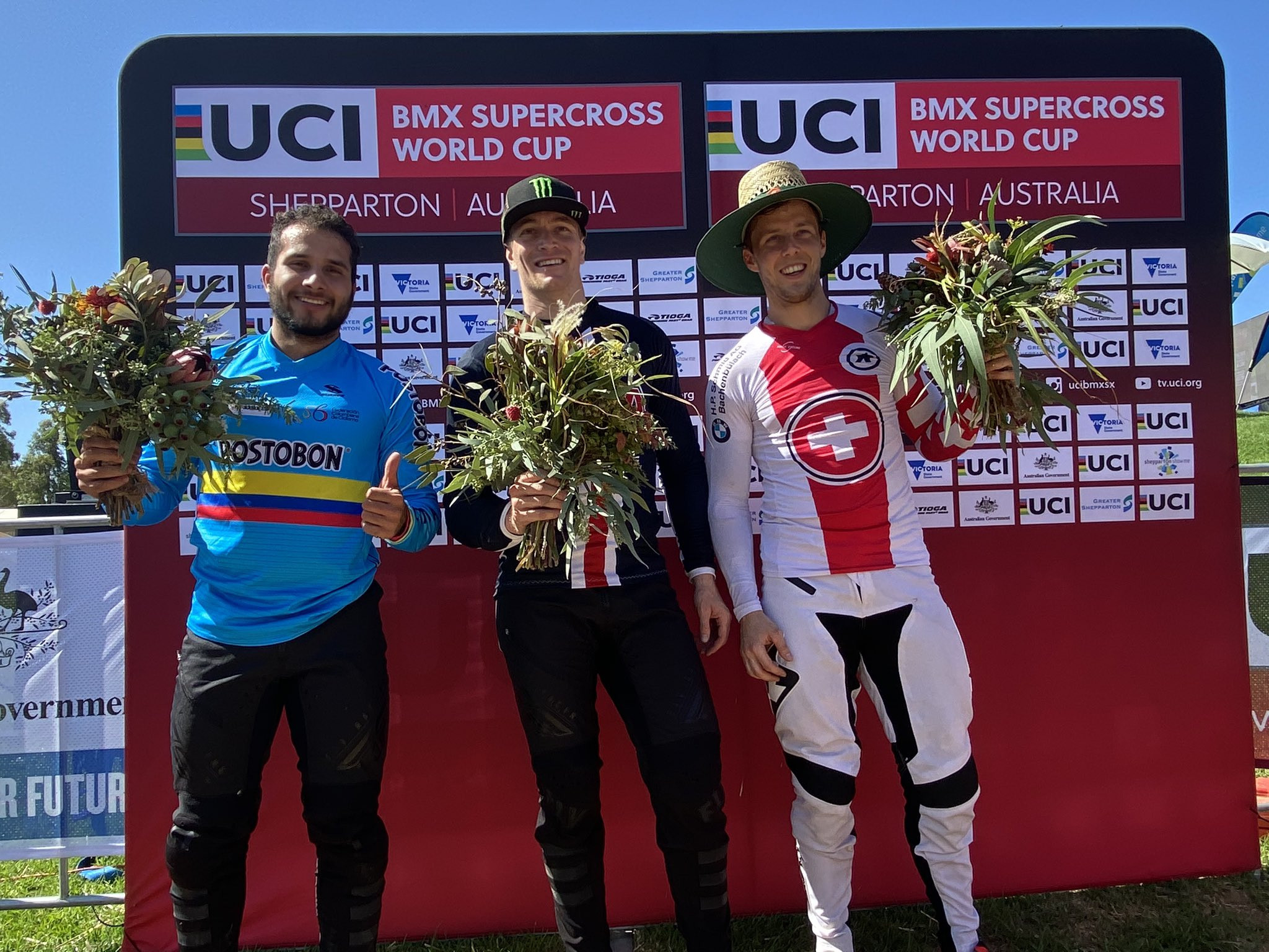Olympic champion Connor Fields won the competition, followed by Carlos Alberto Ramírez Yepes of Colombia and David Graf of Switzerland ©UCI