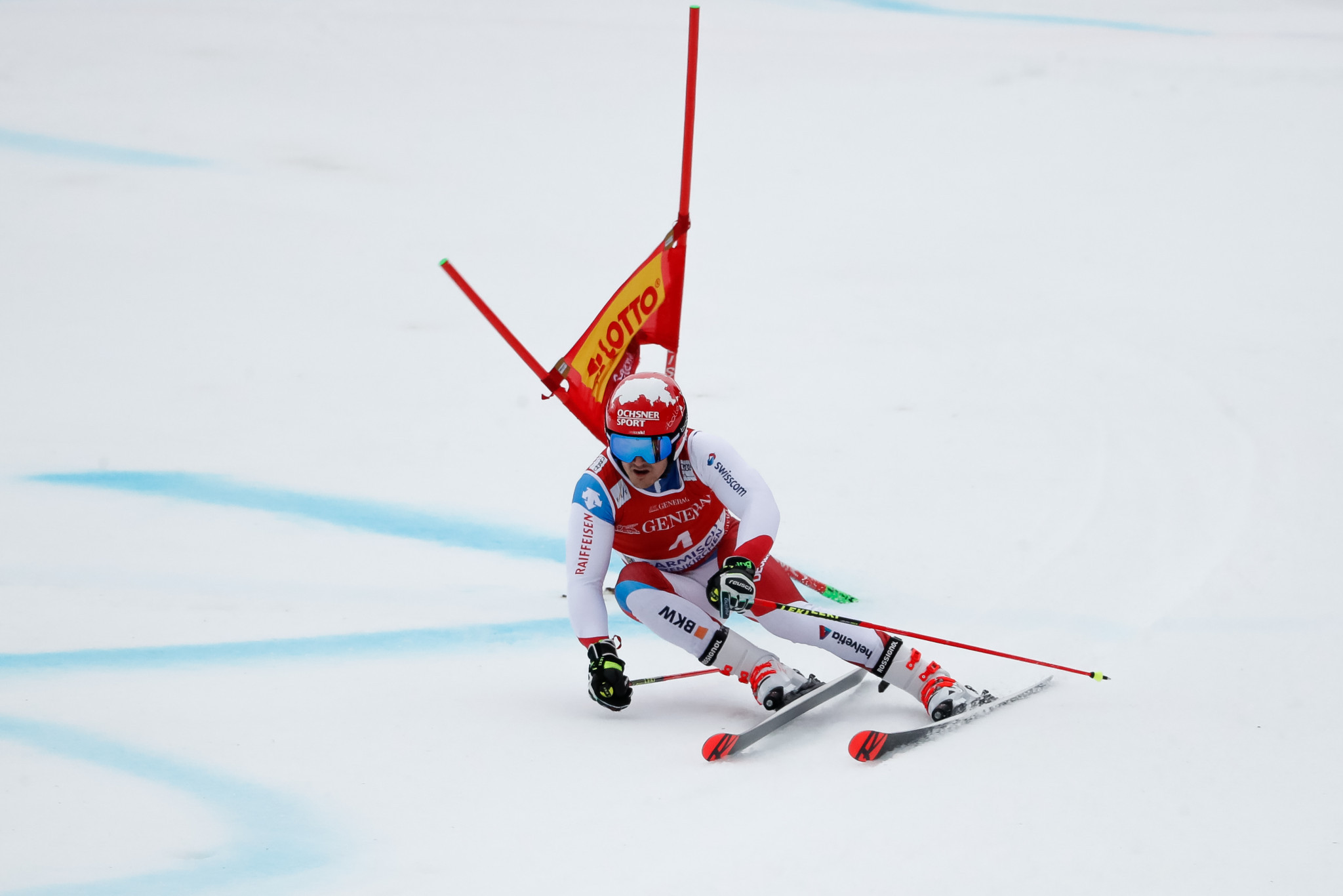 Loïc Meillard made the World Cup podium for the second time this year ©Getty Images