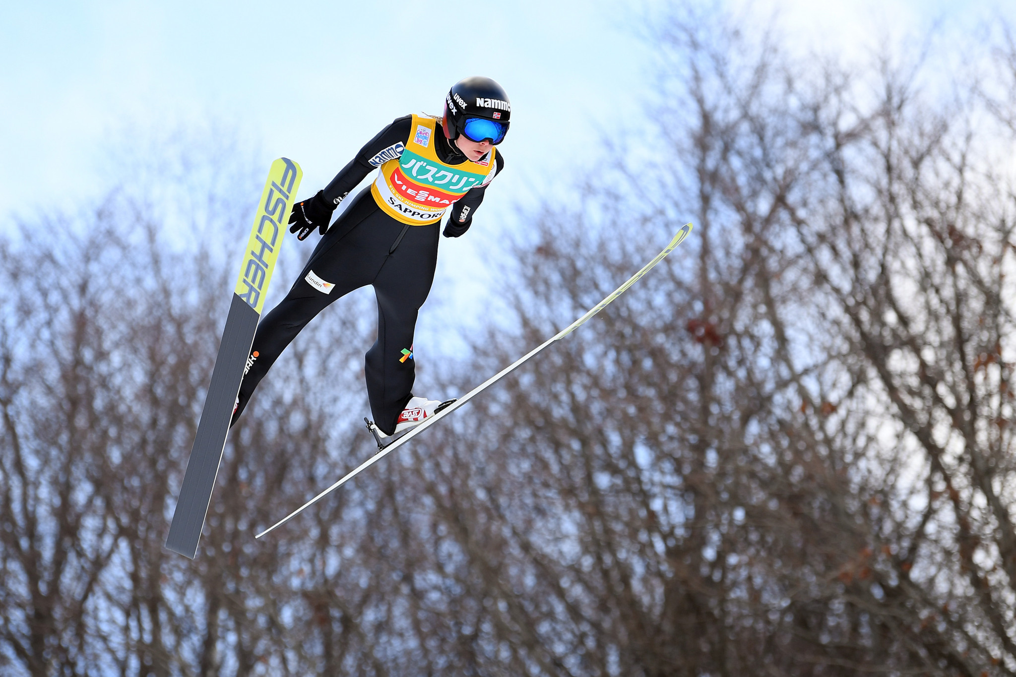 Maren Lundby of Norway slipped down to second in the FIS Ski Jumping World Cup standings ©Getty Images