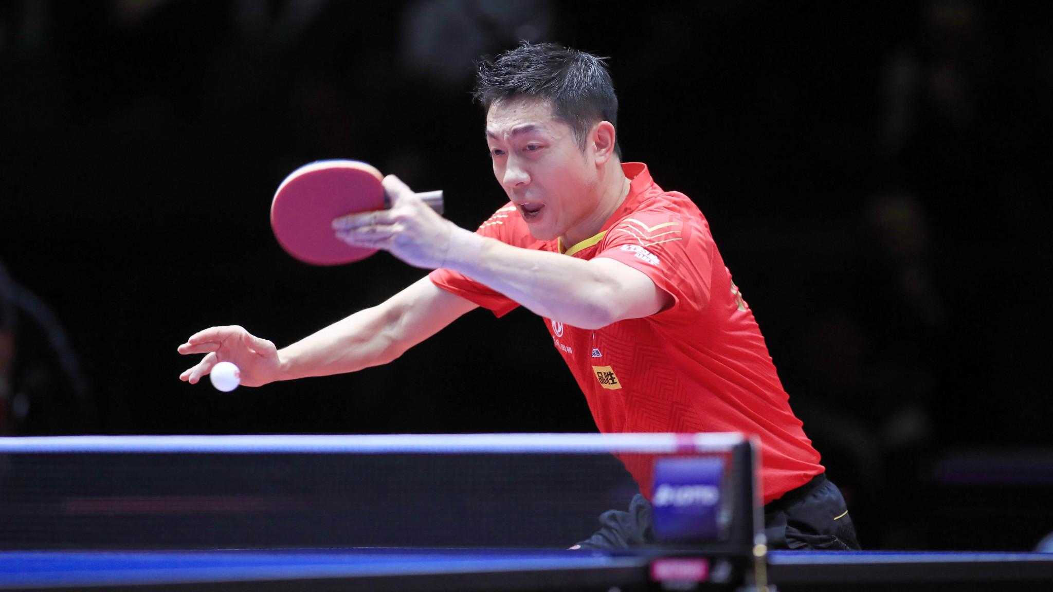 Xu Xin won the men's singles title at the ITTF German Open ©Rémy Gros/ITTF